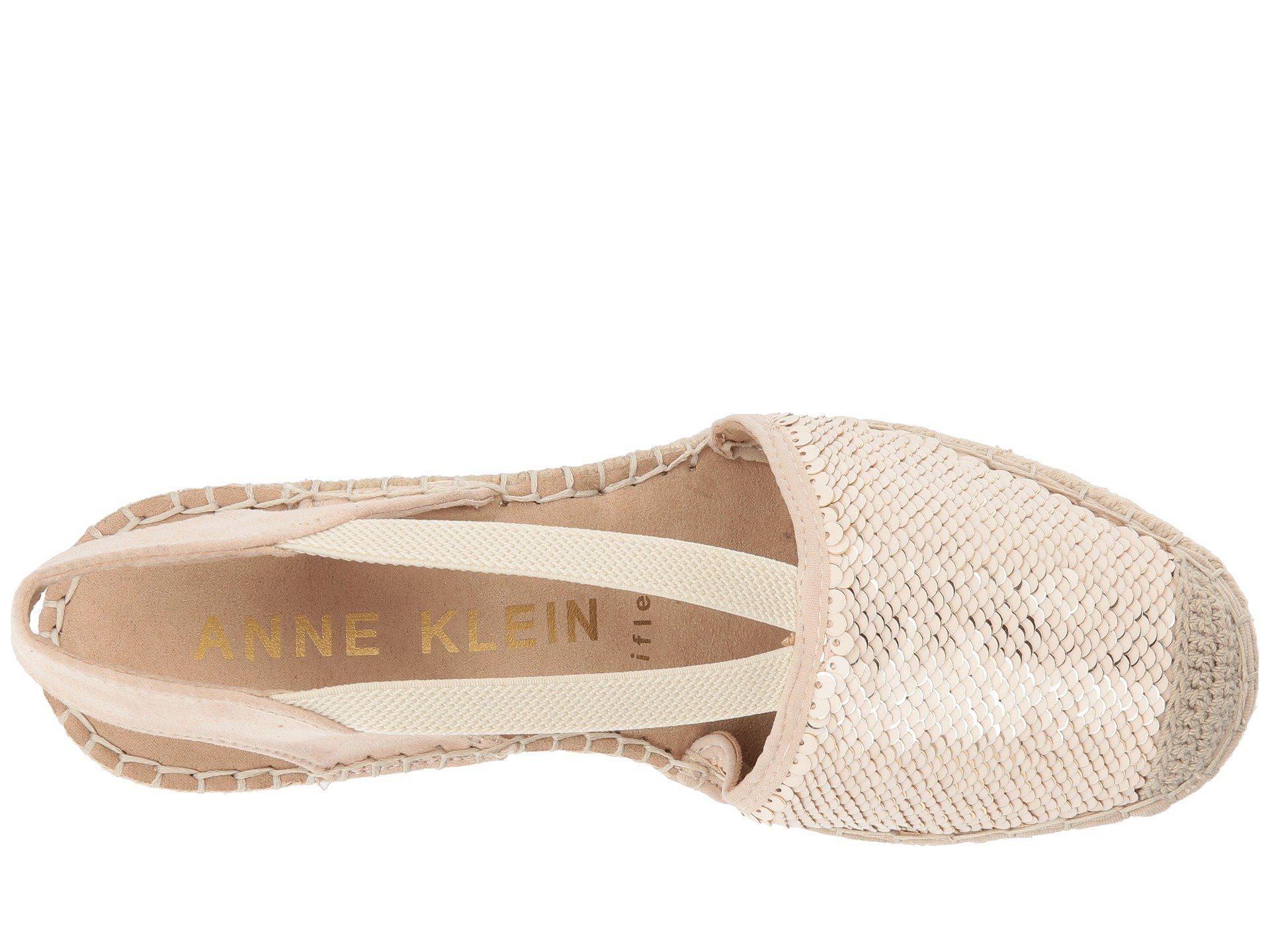 7e17216f1583 Lyst - Anne Klein Abbey (black Multi Fabric) Women s Wedge Shoes