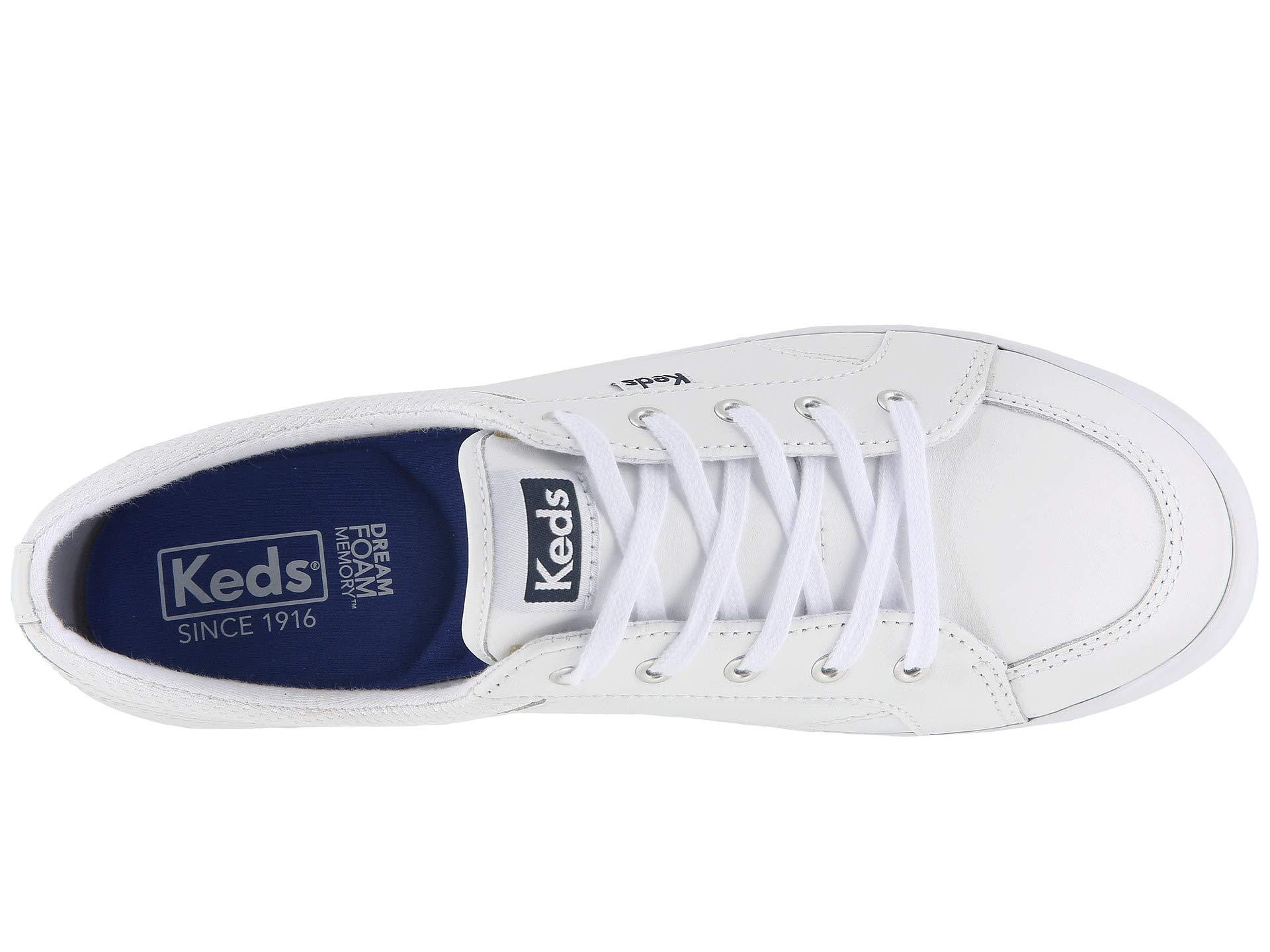 Keds Center Leather in White - Lyst