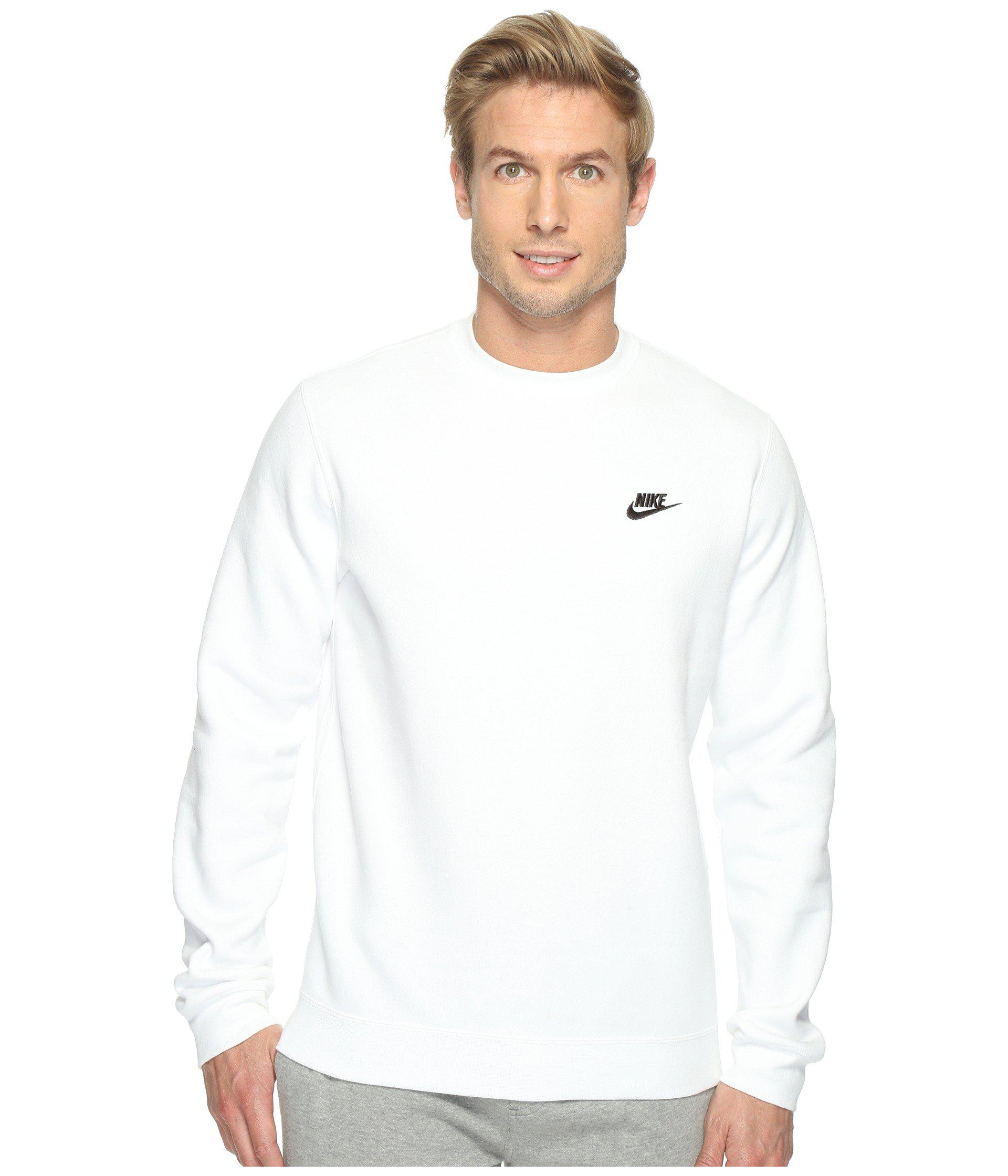 Club Fleece Pullover Crew (dark Grey Heather/white) Men's Fleece