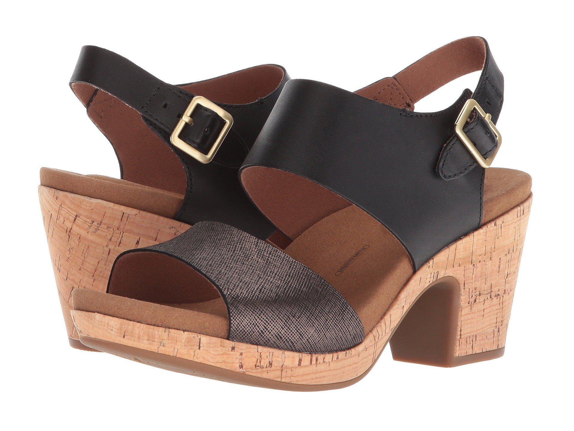ea0b18bfcc Lyst - Rockport Vivianne 2 Part Sandal (tan Multi) Women's Shoes in ...