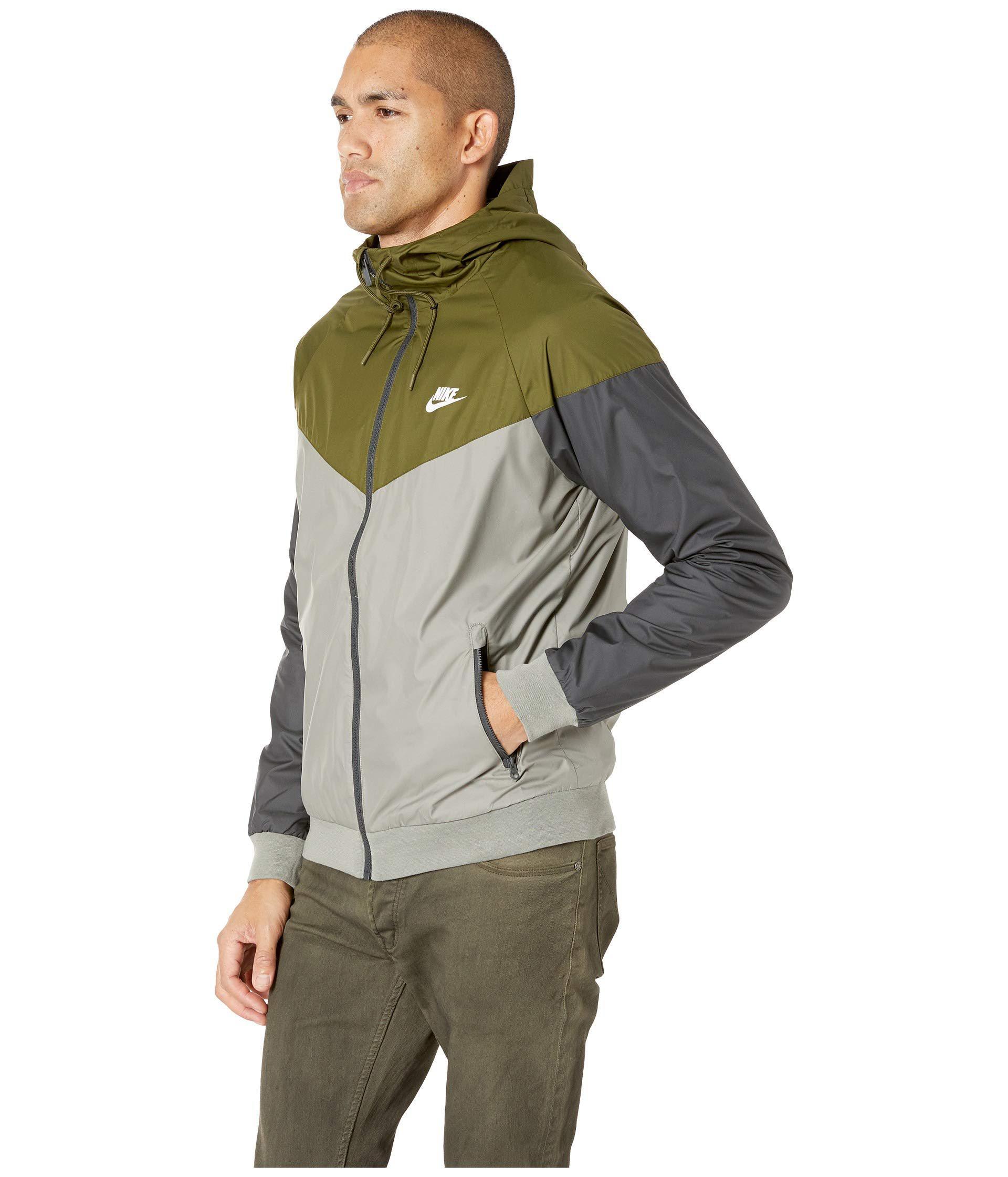 7928f5f344 Lyst - Nike Sportwear Windrunner Jacket (olive Canvas dark Stucco white)  Men s Coat in Green for Men - Save 21%