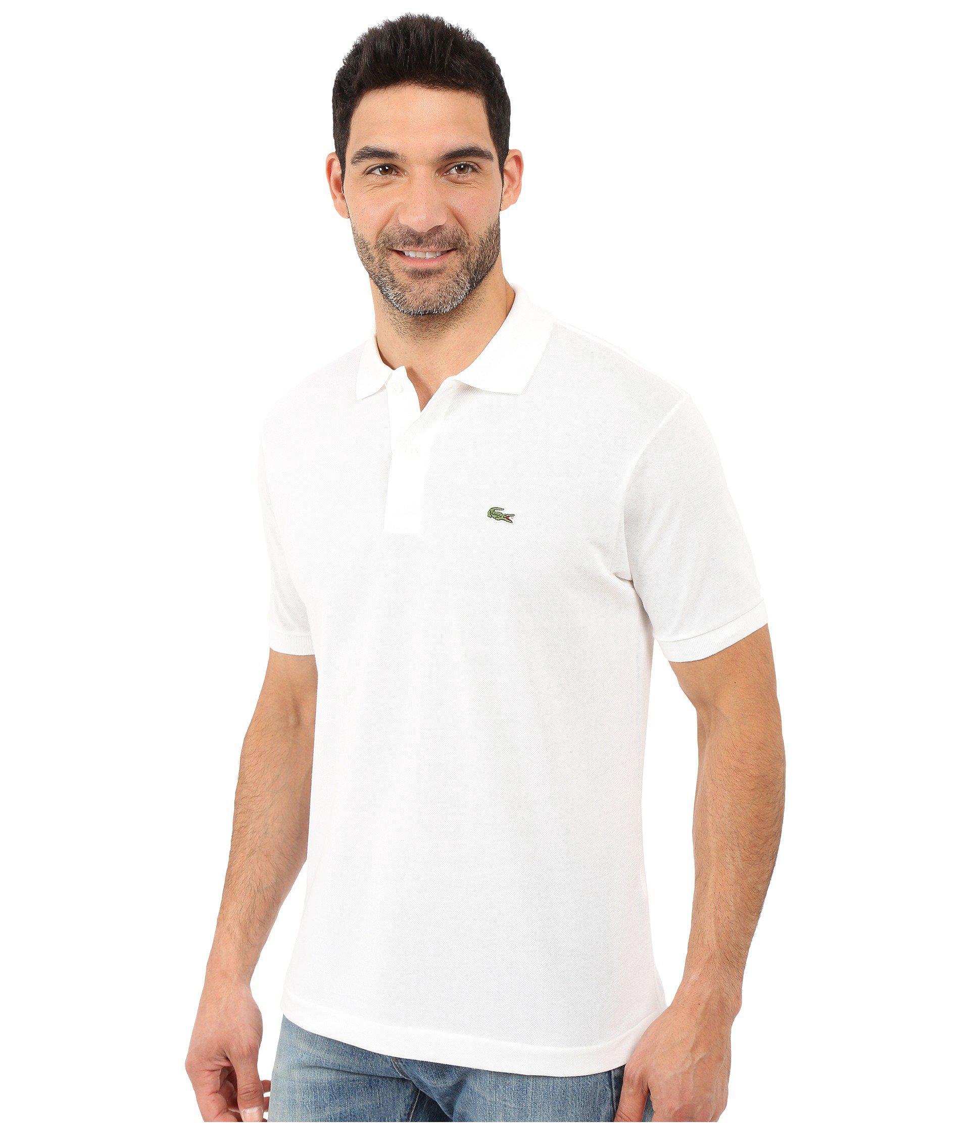 3e57474c8966 Lyst - Lacoste L1212 Classic Pique Polo Shirt (black) Men s Short Sleeve  Knit in White for Men