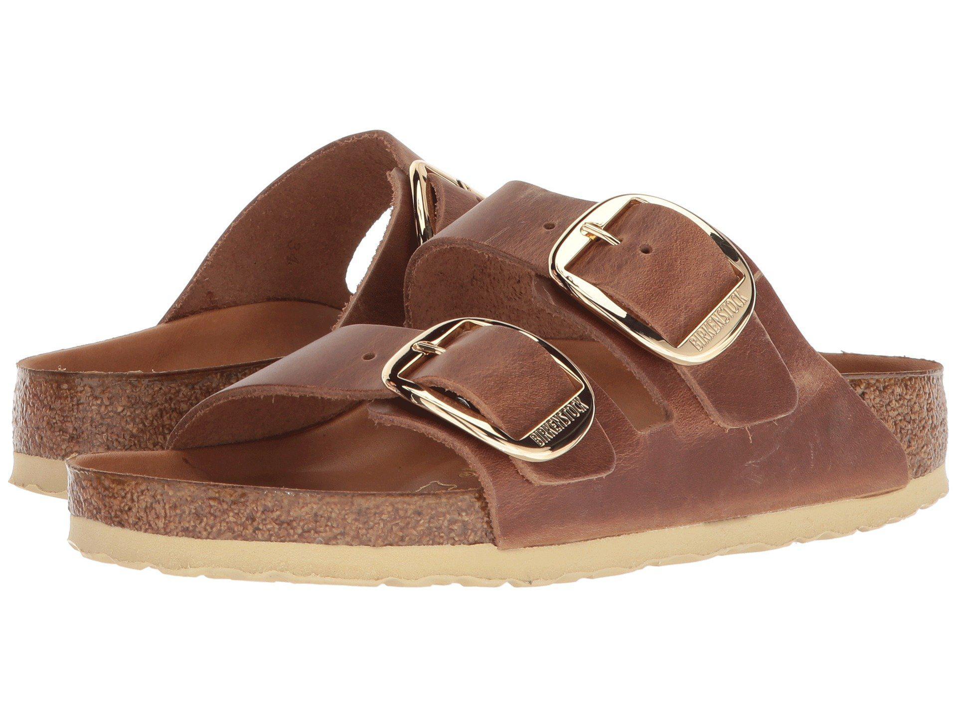6387dd5e699 Lyst - Birkenstock Arizona Big Buckle Mules   Casual Shoes in Brown