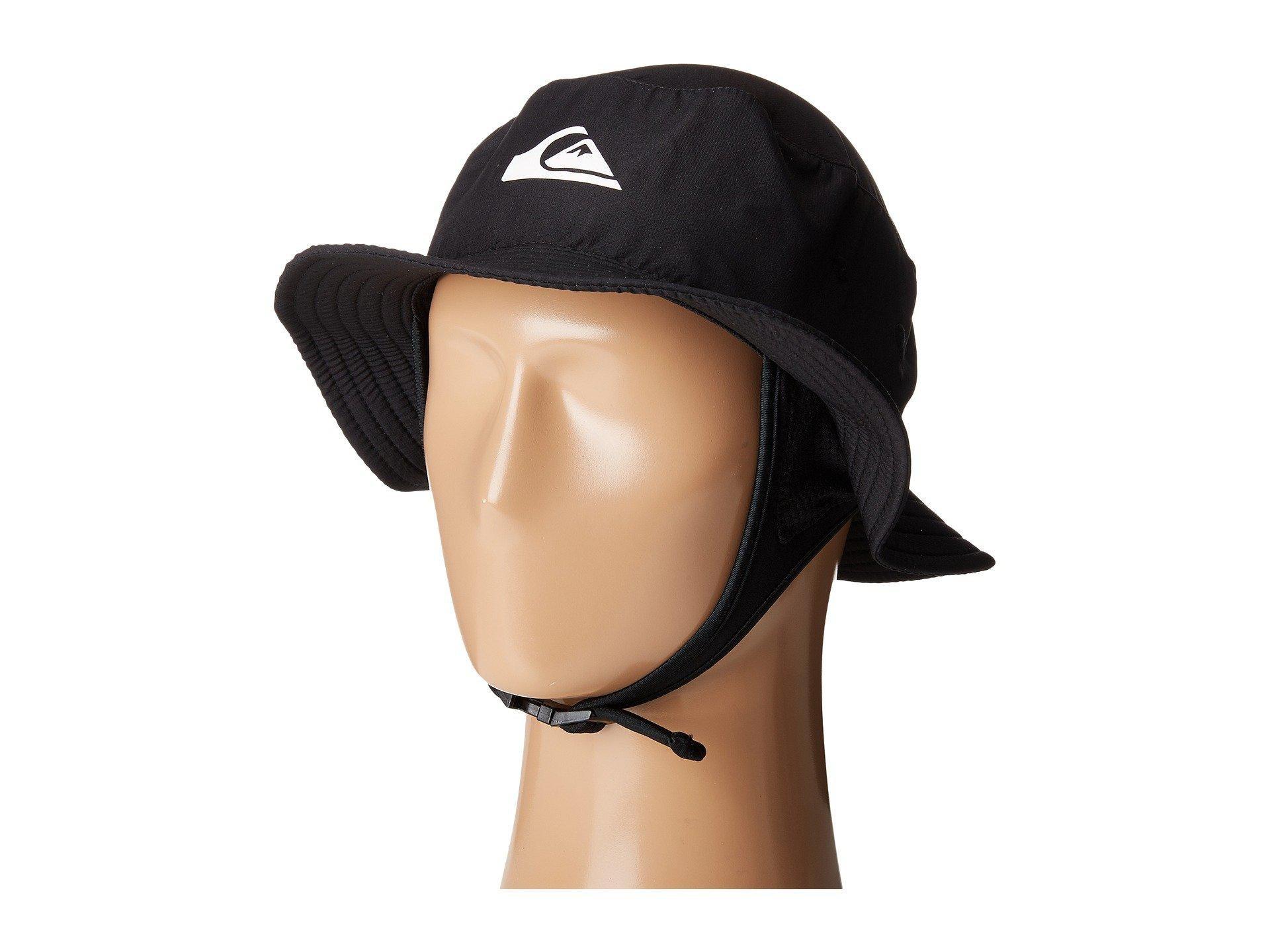 Lyst - Quiksilver Bushmaster Surf Hat (black) Bucket Caps in Black ... ae47178274b1