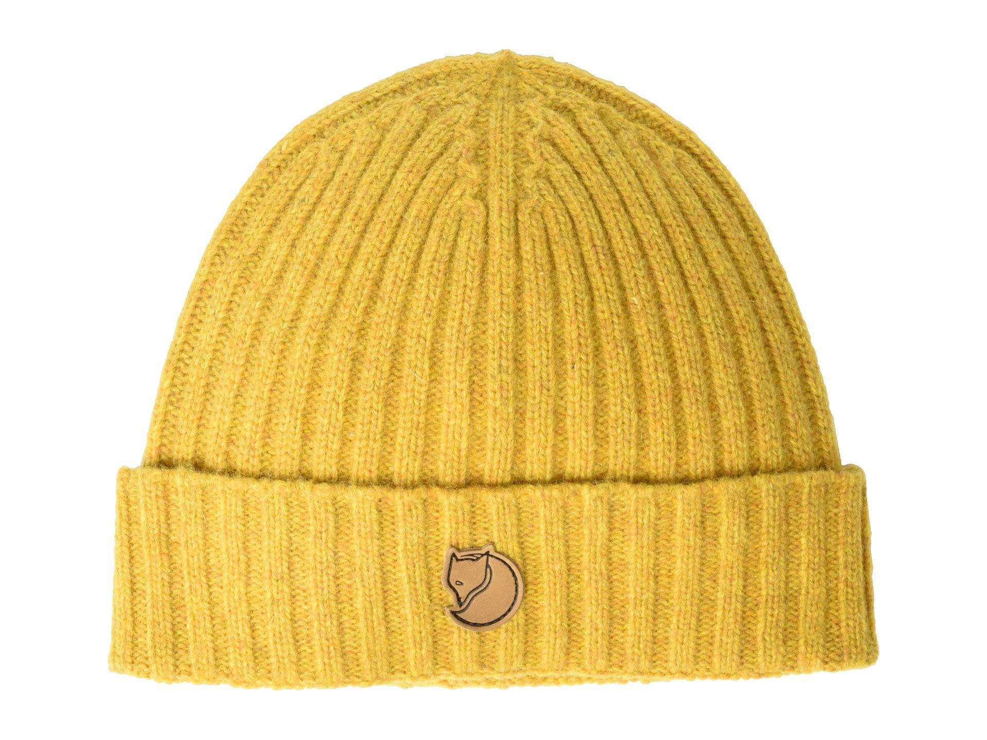 1bab57bb4b200 Fjallraven Re-wool Hat (acorn) Caps in Yellow - Lyst