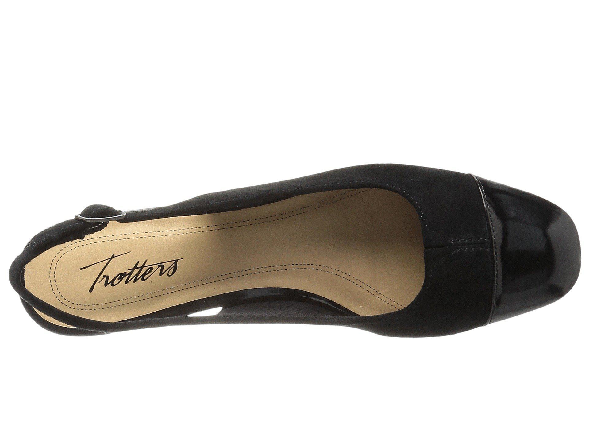 6de36333899 Trotters - Black Dea (nude) Women s 1-2 Inch Heel Shoes - Lyst. View  fullscreen