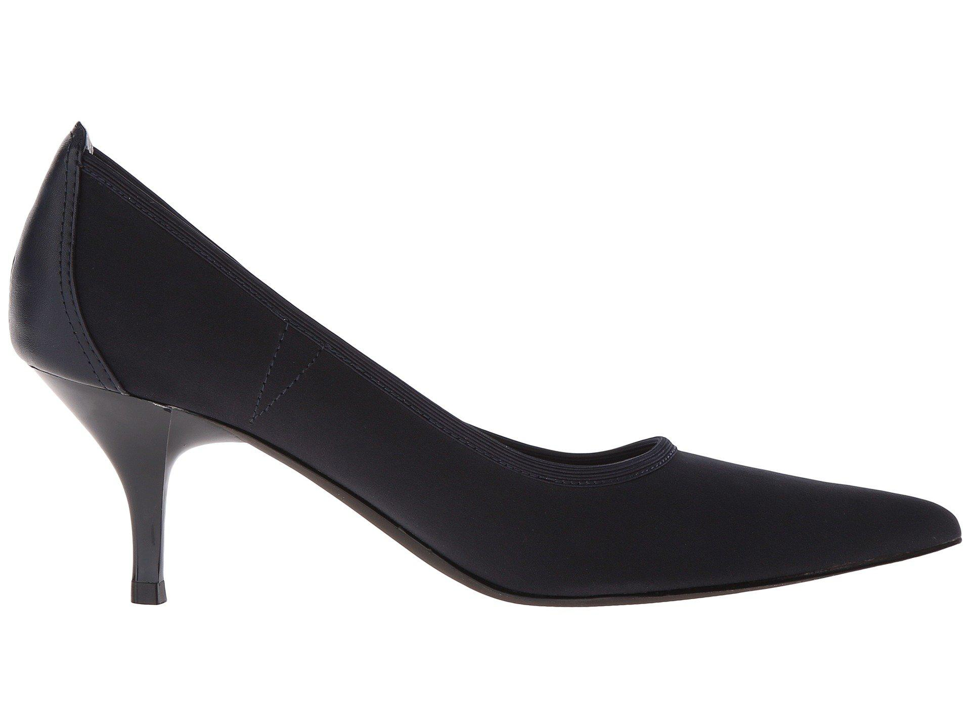 Tahari Dottie Black Stretch High Heels Lyst