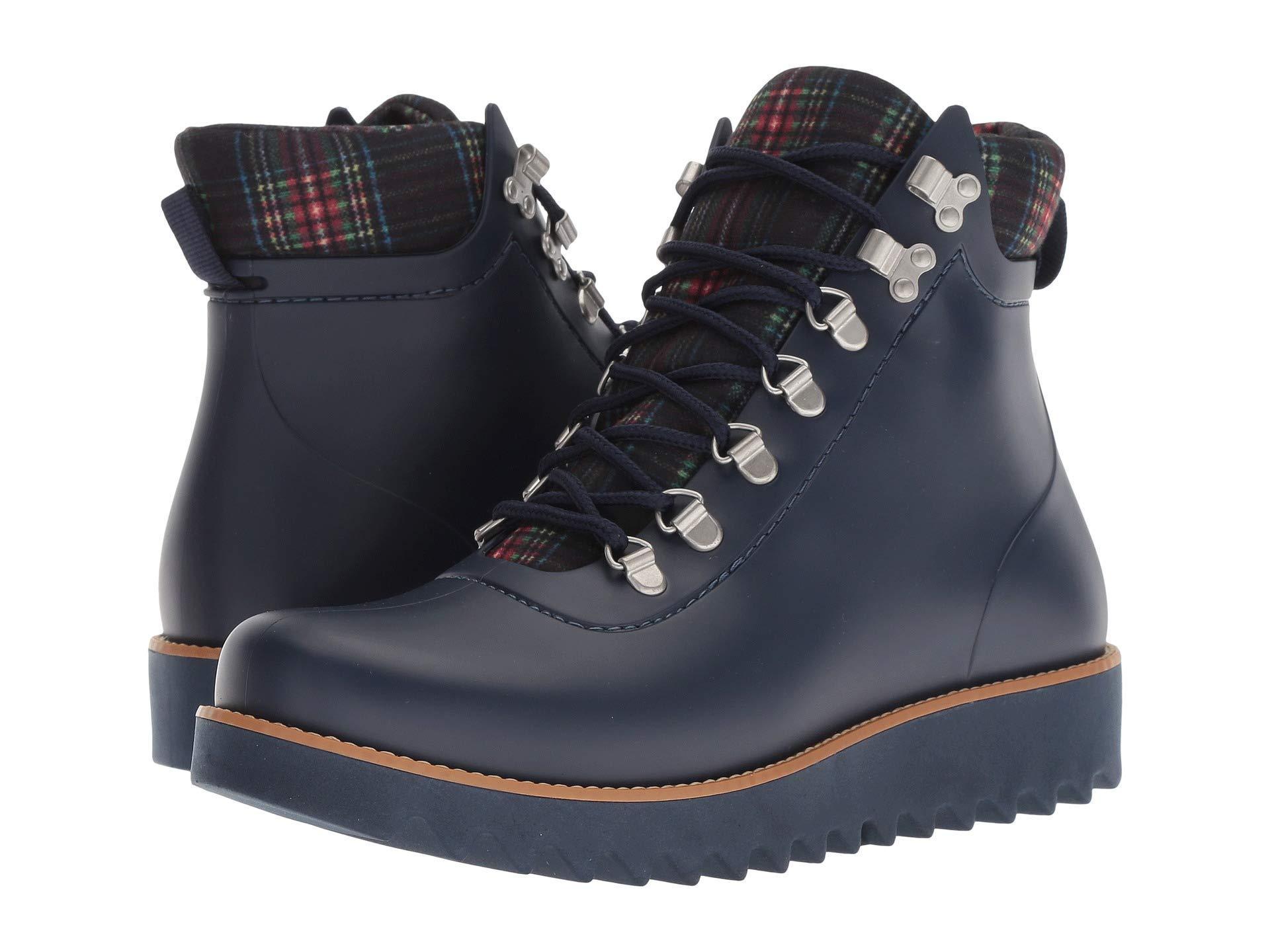c327ea3de39363 Lyst - Bernardo Winnie Hiker Rain Boot (military Rubber plaid ...
