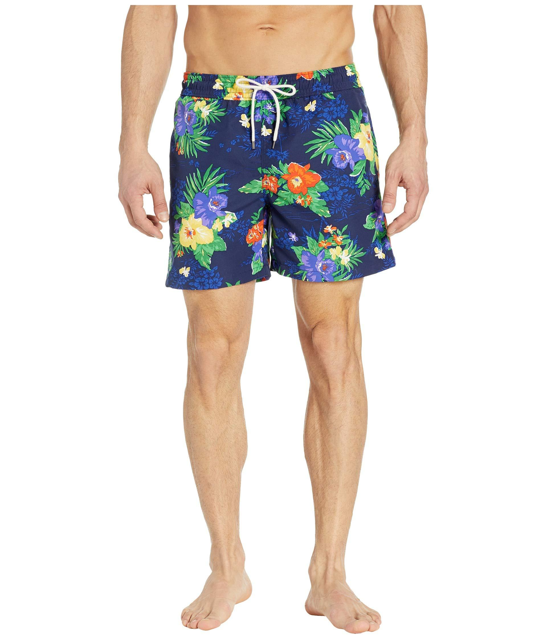 6549772cbe Lyst - Polo Ralph Lauren Traveler Swim Trunks (carribean Floral ...