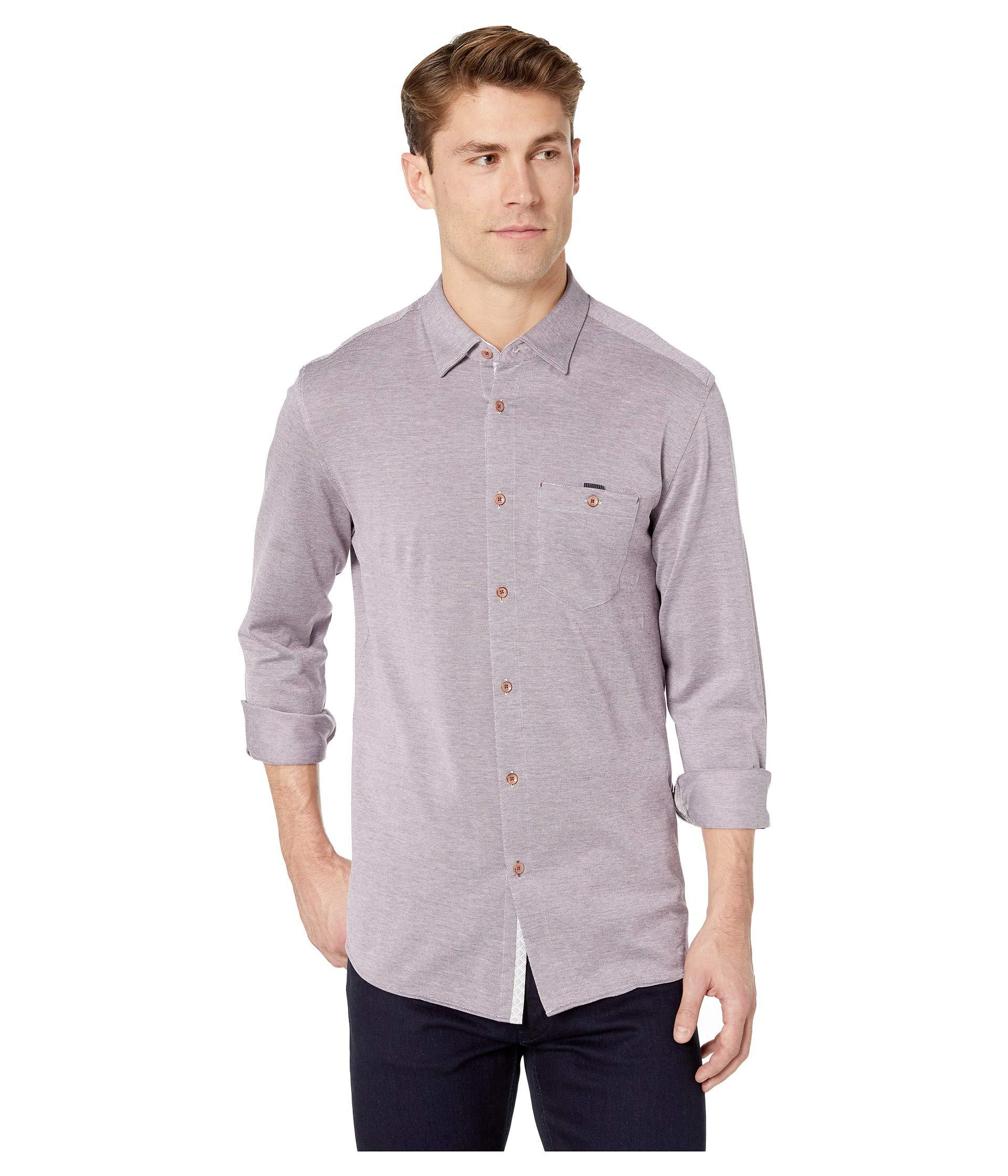 3a9b3661f795e7 Lyst - Ted Baker Timothy Long Sleeve Jersey Shirt (purple) Men s ...