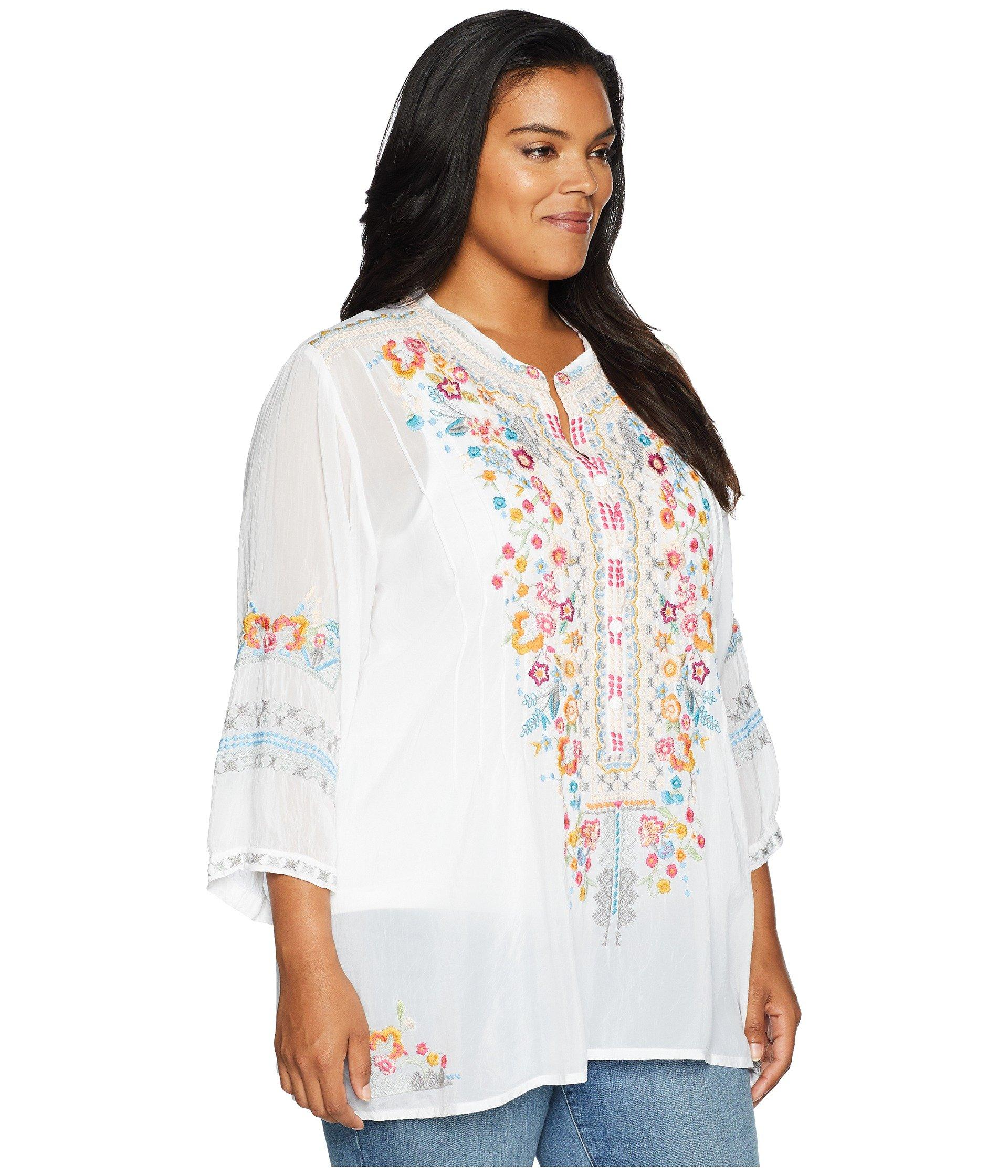 56646cb883a5a8 Johnny Was - Plus Size Bethanie Tunic (white) Women's Blouse - Lyst. View  fullscreen