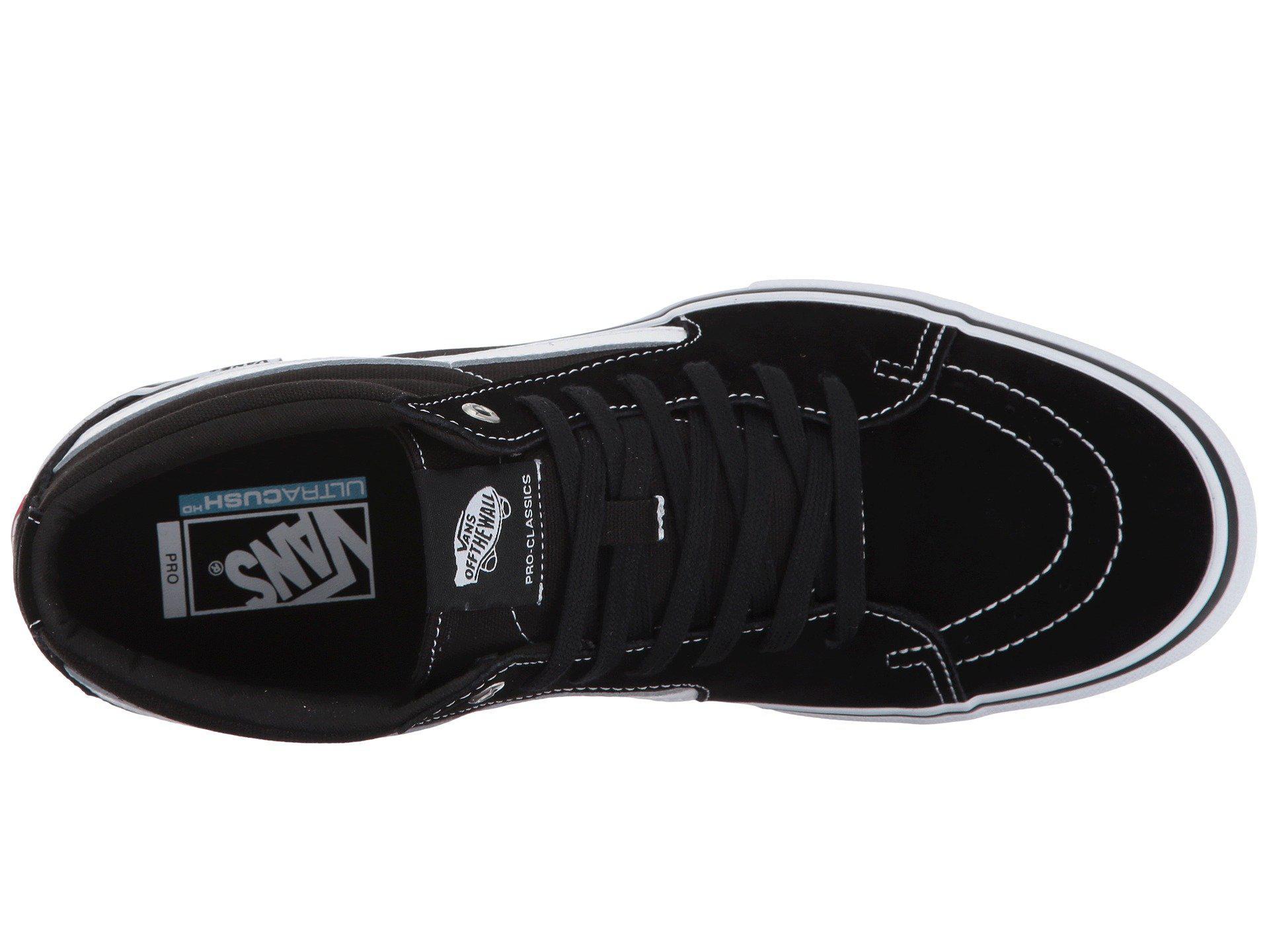 67c498b9207 Lyst - Vans Sk8-mid Pro (black white) Men s Skate Shoes in Black for Men
