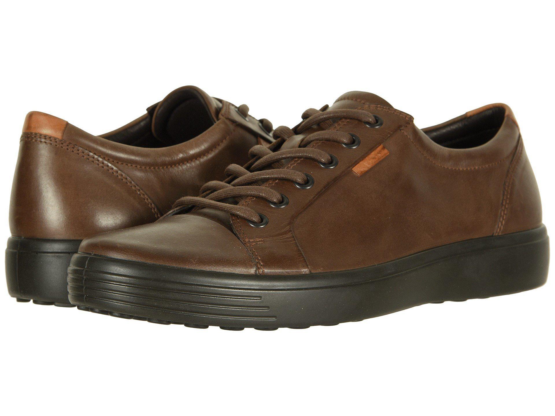Ecco Leather Soft 7 Sneaker (licorice