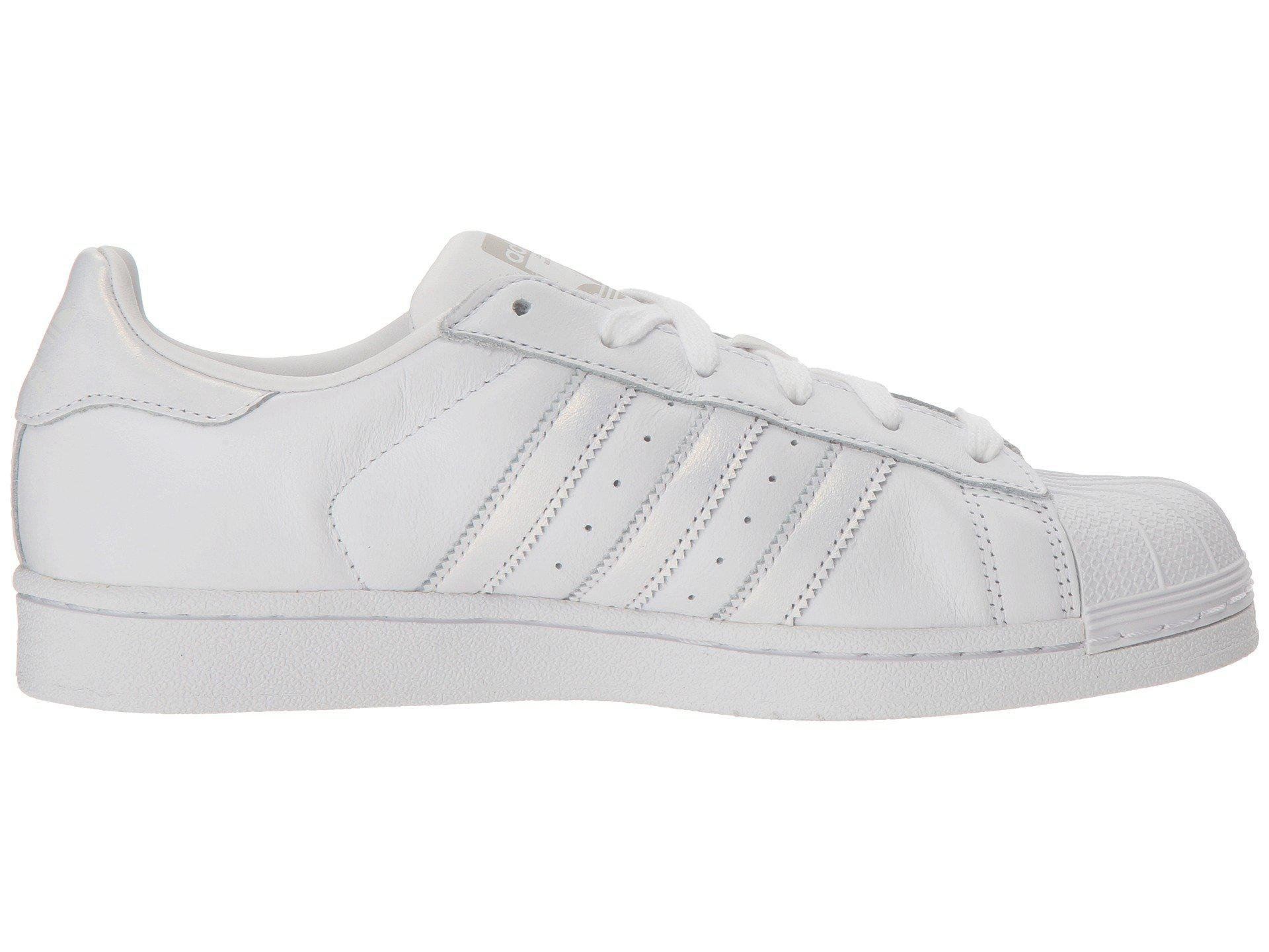 detailed look 3a7c1 7206e adidas Originals Superstar W (white red Night silver Metallic) Women s  Classic Shoes in White - Lyst