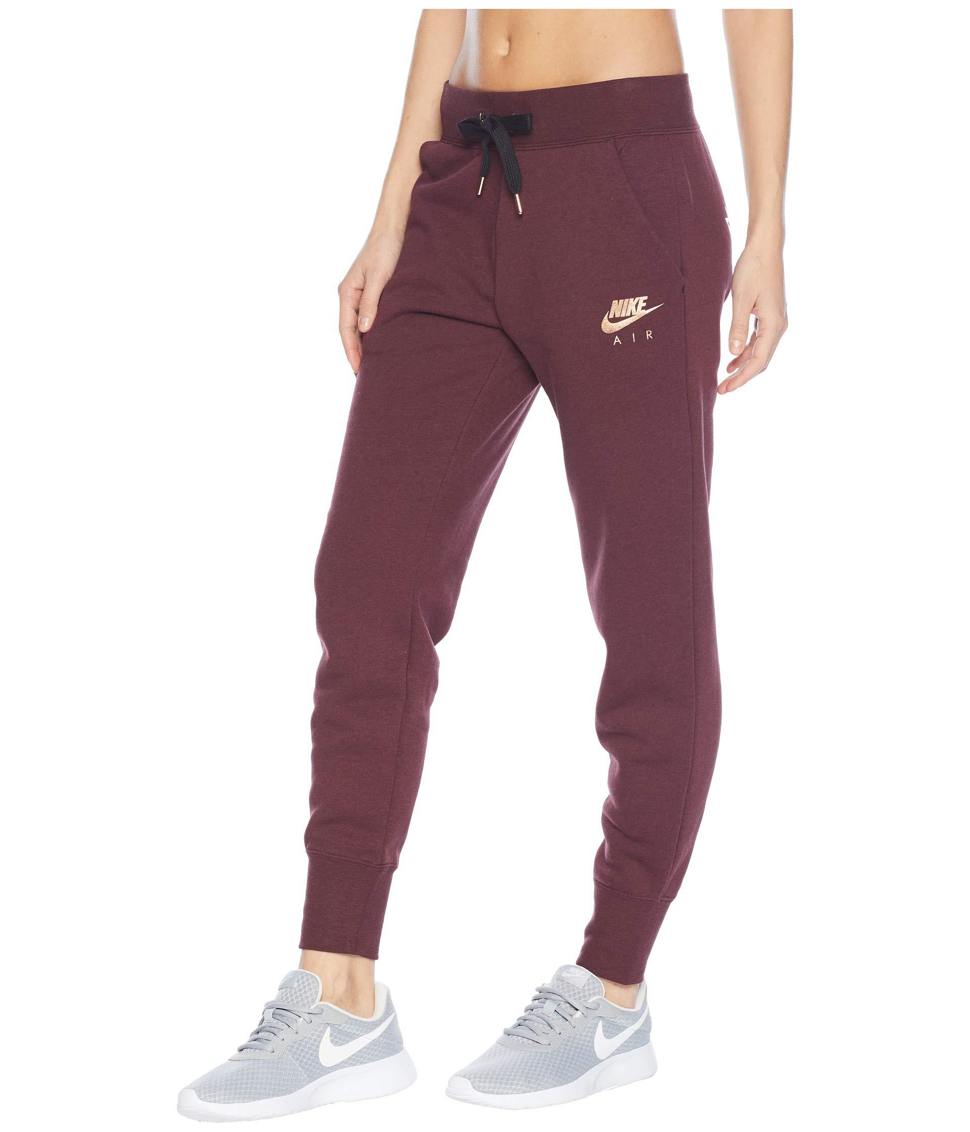comercio Desmañado Soleado  Nike Sportswear Air Pants Reg Fleece (smokey Mauve/black) Women's ...