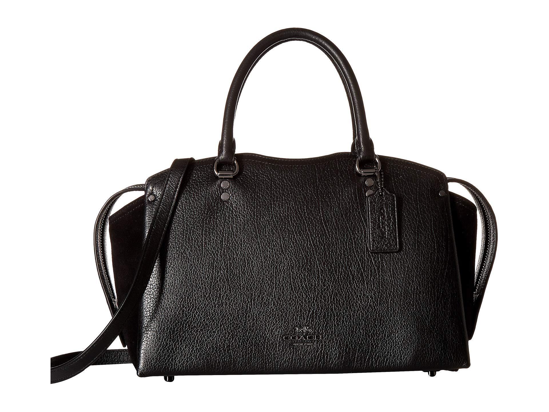dc967e3c686d Lyst - COACH Drew Satchel (blossom silver) Satchel Handbags in Black
