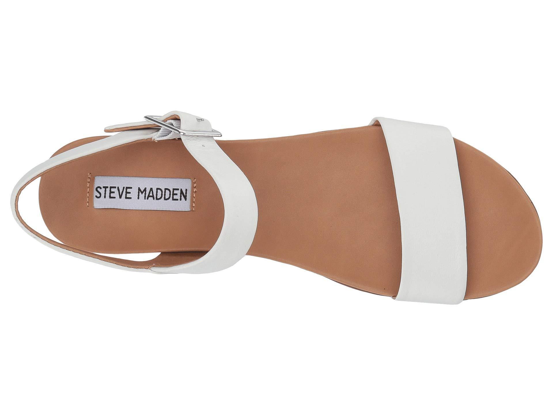 6b254d5a4e3 Steve Madden Aida (white Leather) Women's Shoes
