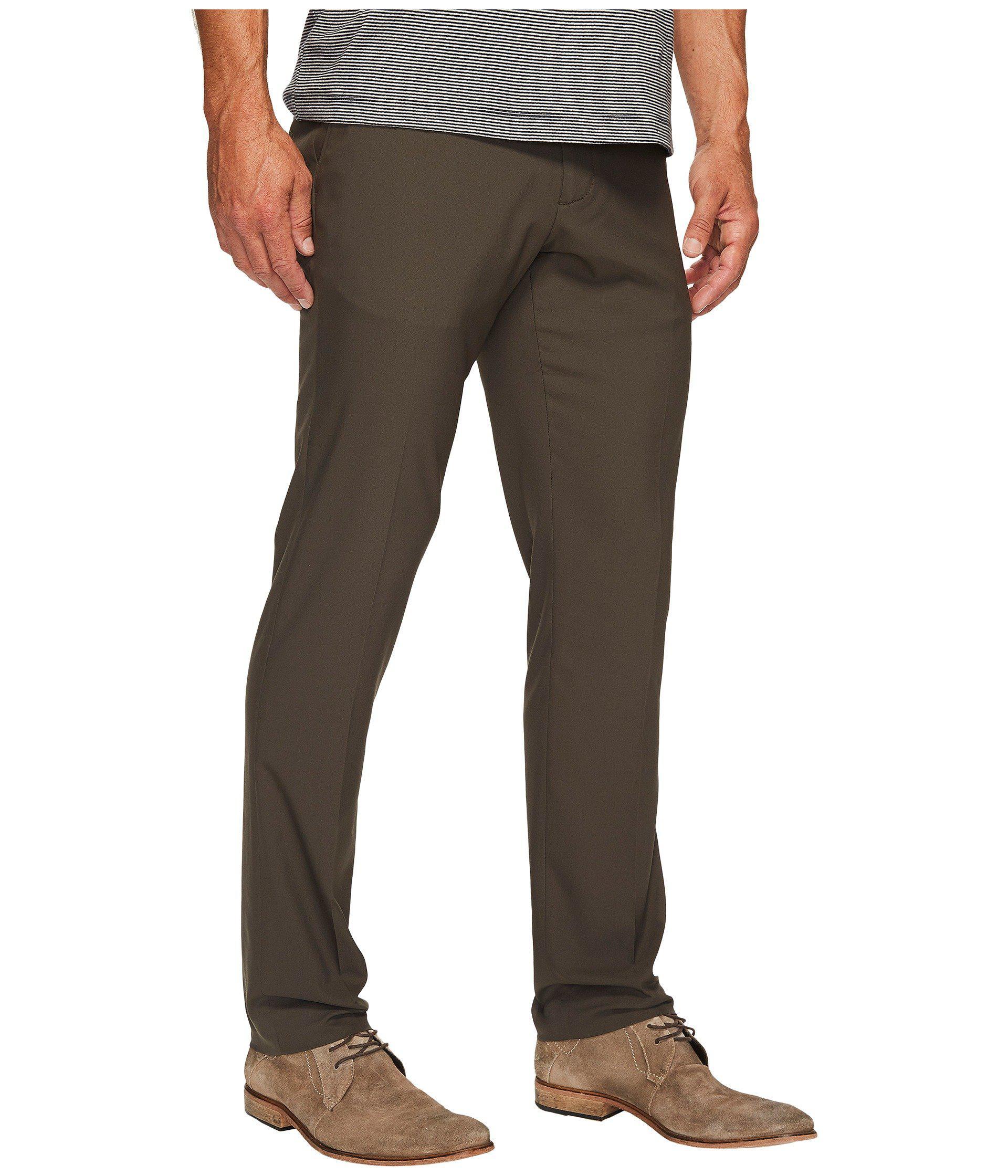 Perry Ellis Mens Slim Fit Solid Tech Pant