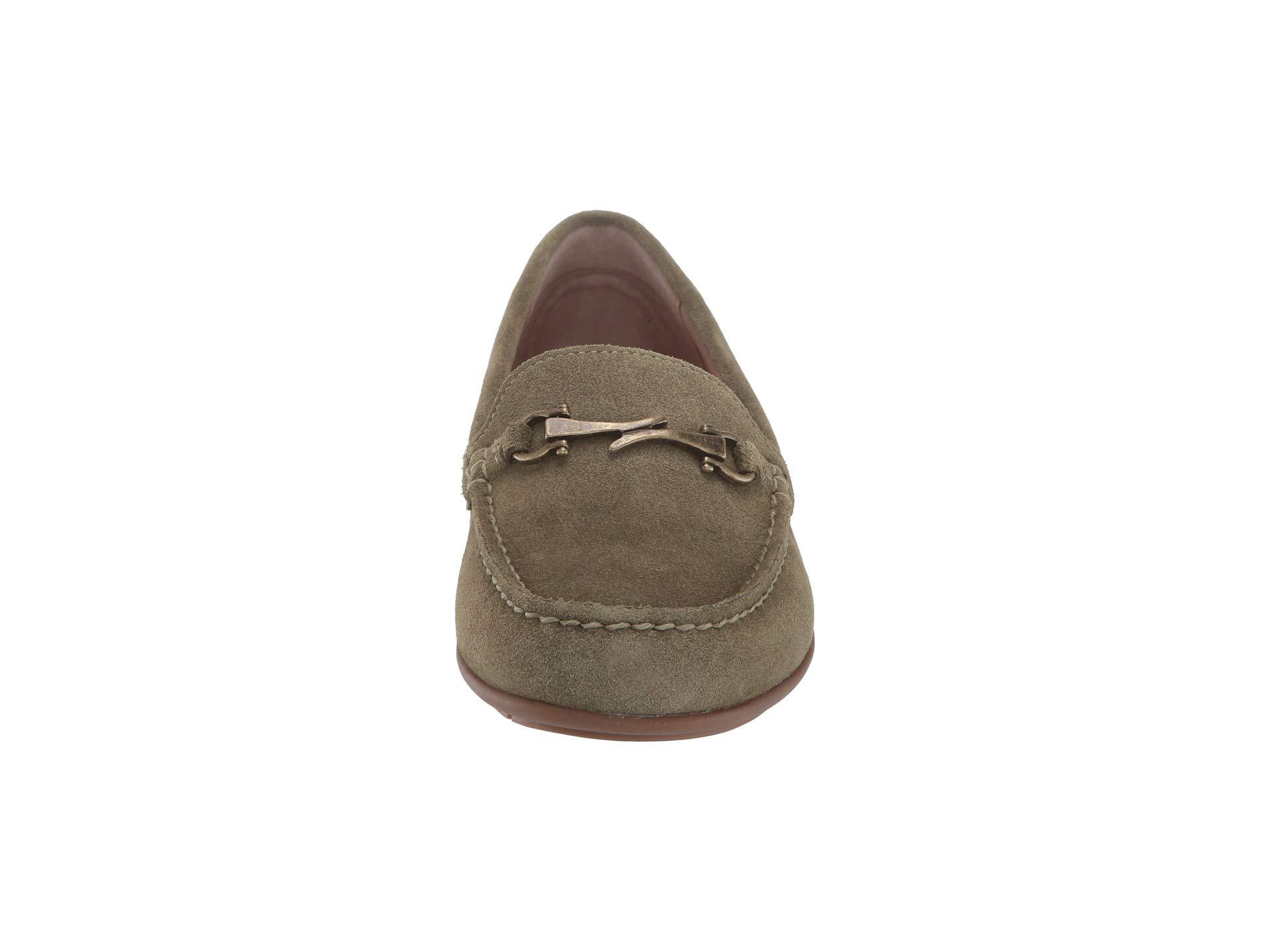 c206d74f54d Taos Footwear - Green Bit Moc (grey Suede) Women s Slip On Shoes - Lyst.  View fullscreen