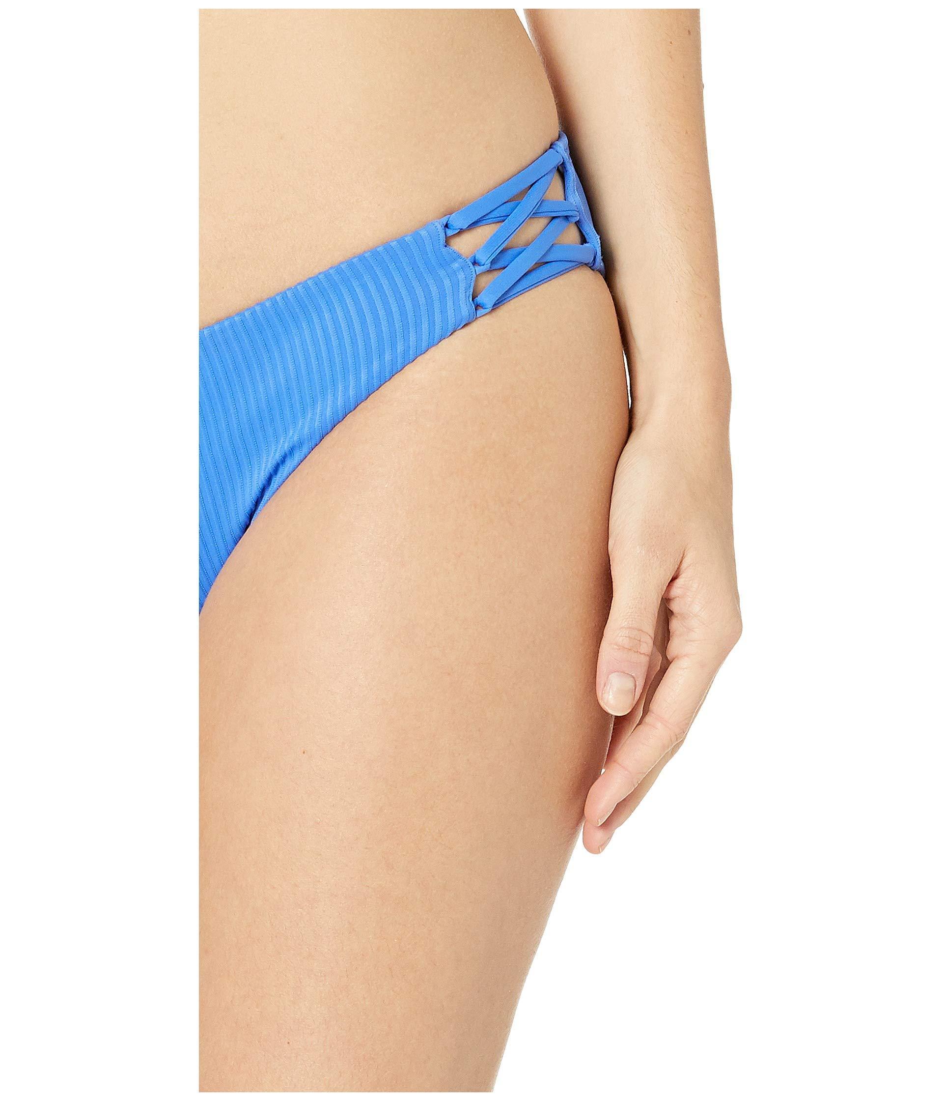 325641bac8772 Luli Fama Orillas Del Mar Ribbed Seamless Triangle Top (blue My Mind)  Women's Swimwear in Blue - Lyst