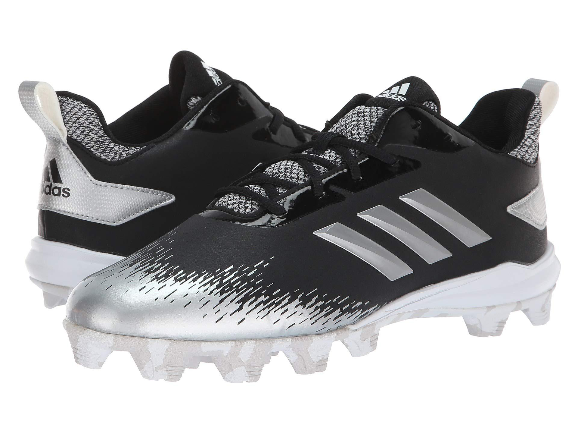 meet 8ce82 3986b Adidas - Afterburner V Md (white silver Metallic grey One) Men s Cleated.  View fullscreen