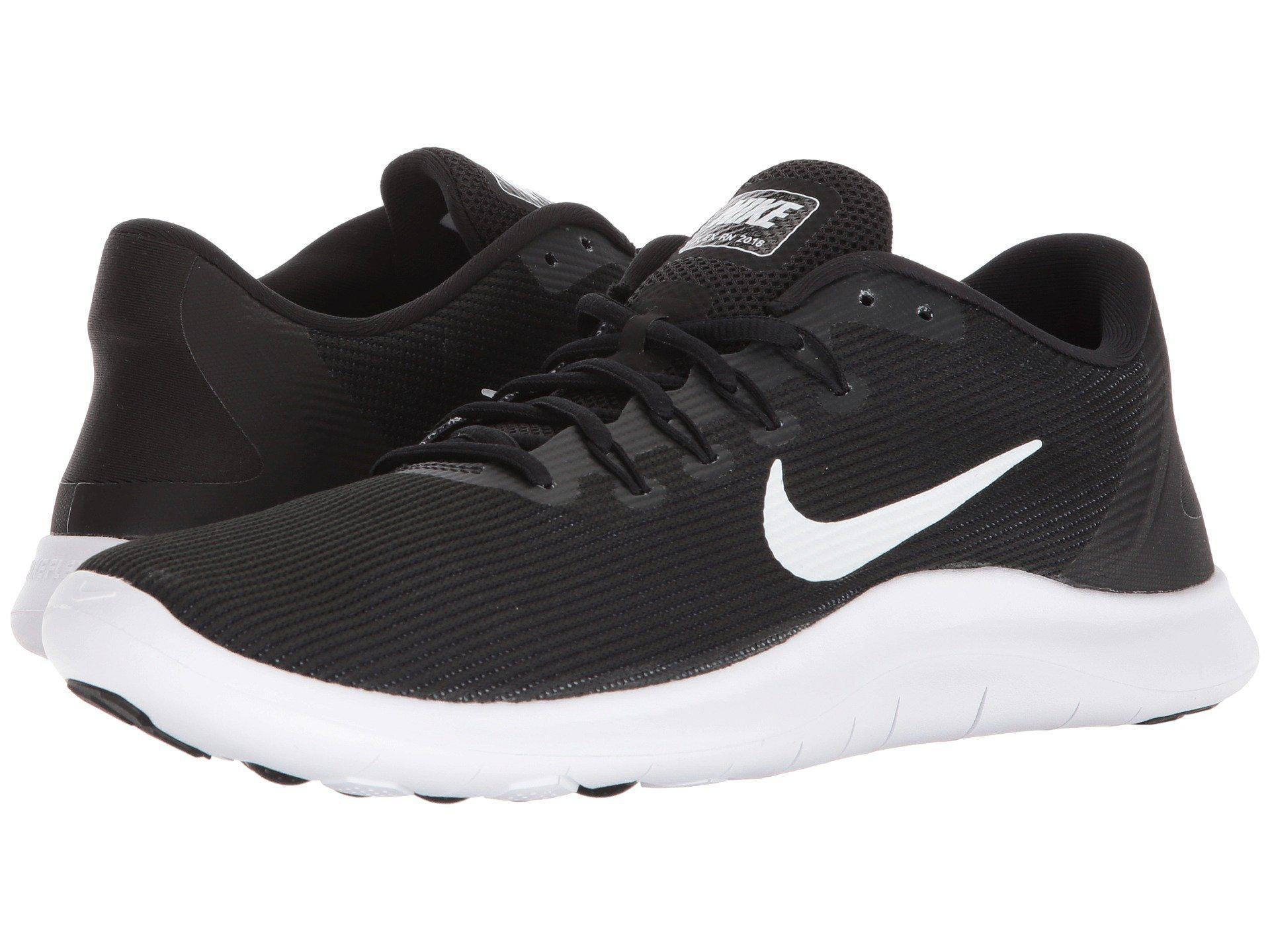 último diseño auténtico diseño profesional Nike Synthetic Flex Rn 2018 (black/white) Men's Running Shoes for ...