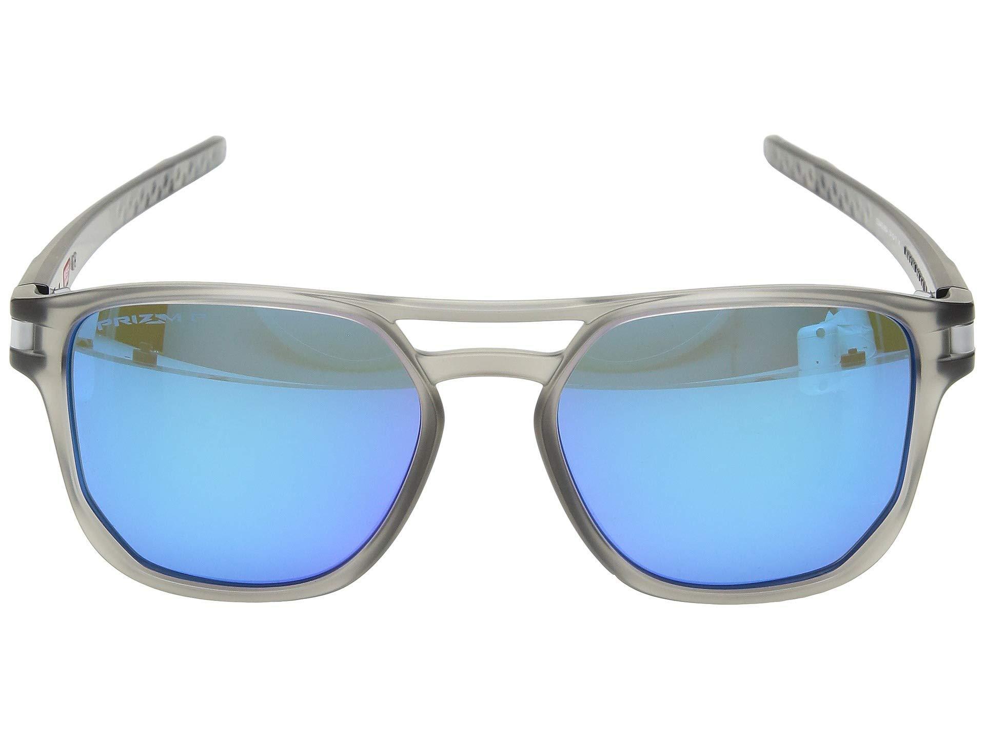 6126561382 Oakley - Blue Latch Beta (matte Grey Ink prizm Sapphire Polarized) Sport  Sunglasses. View fullscreen