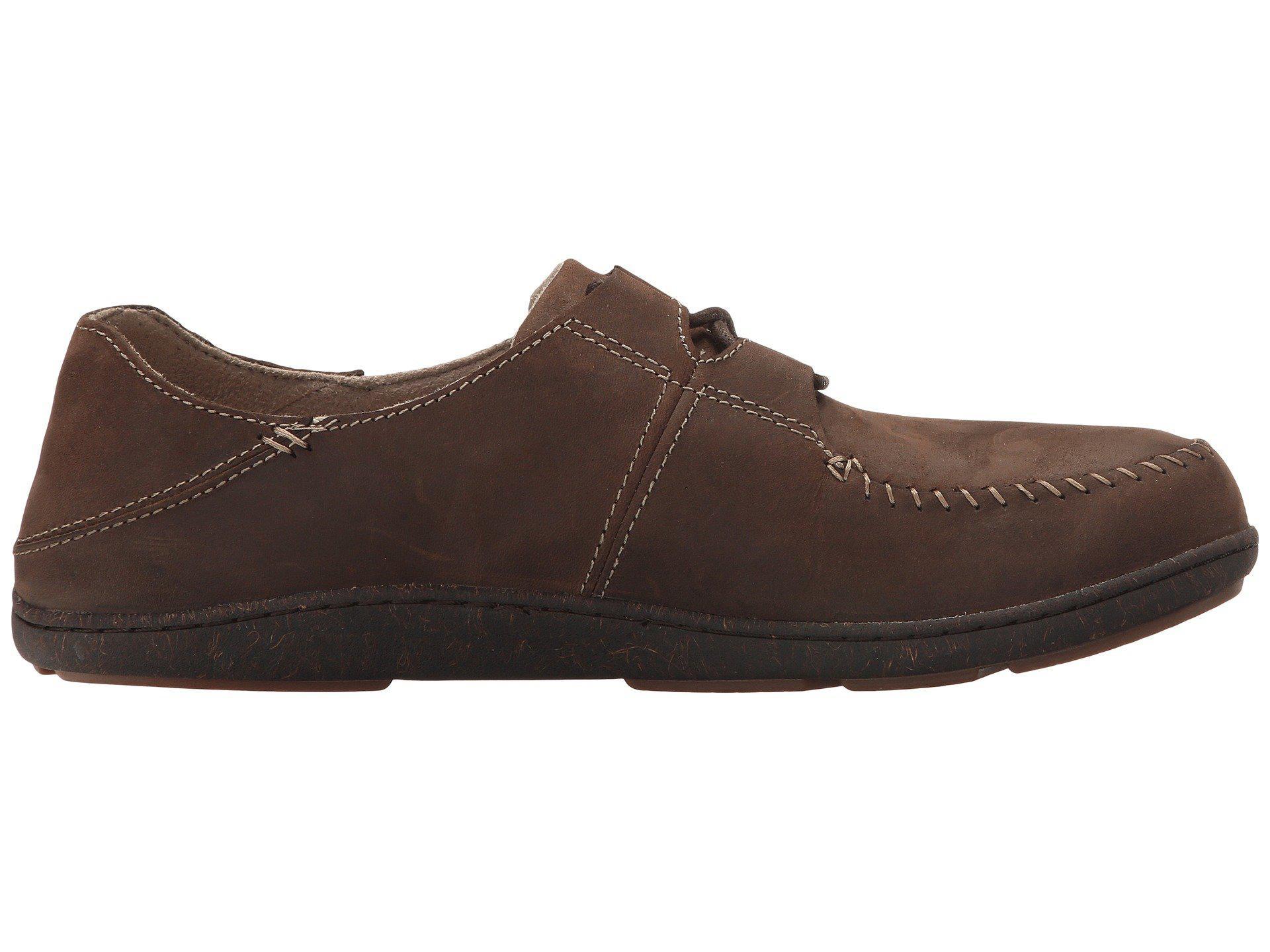 Olukai Honua Leather Dark Wood Dark Wood Men S Shoes In