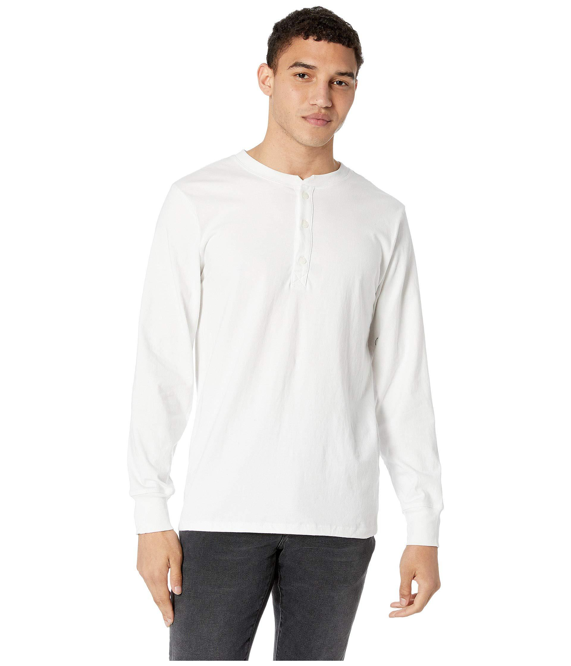 Lyst - Richer Poorer Long Sleeve Henley (white) Men s T Shirt in ... 3888305b8bc