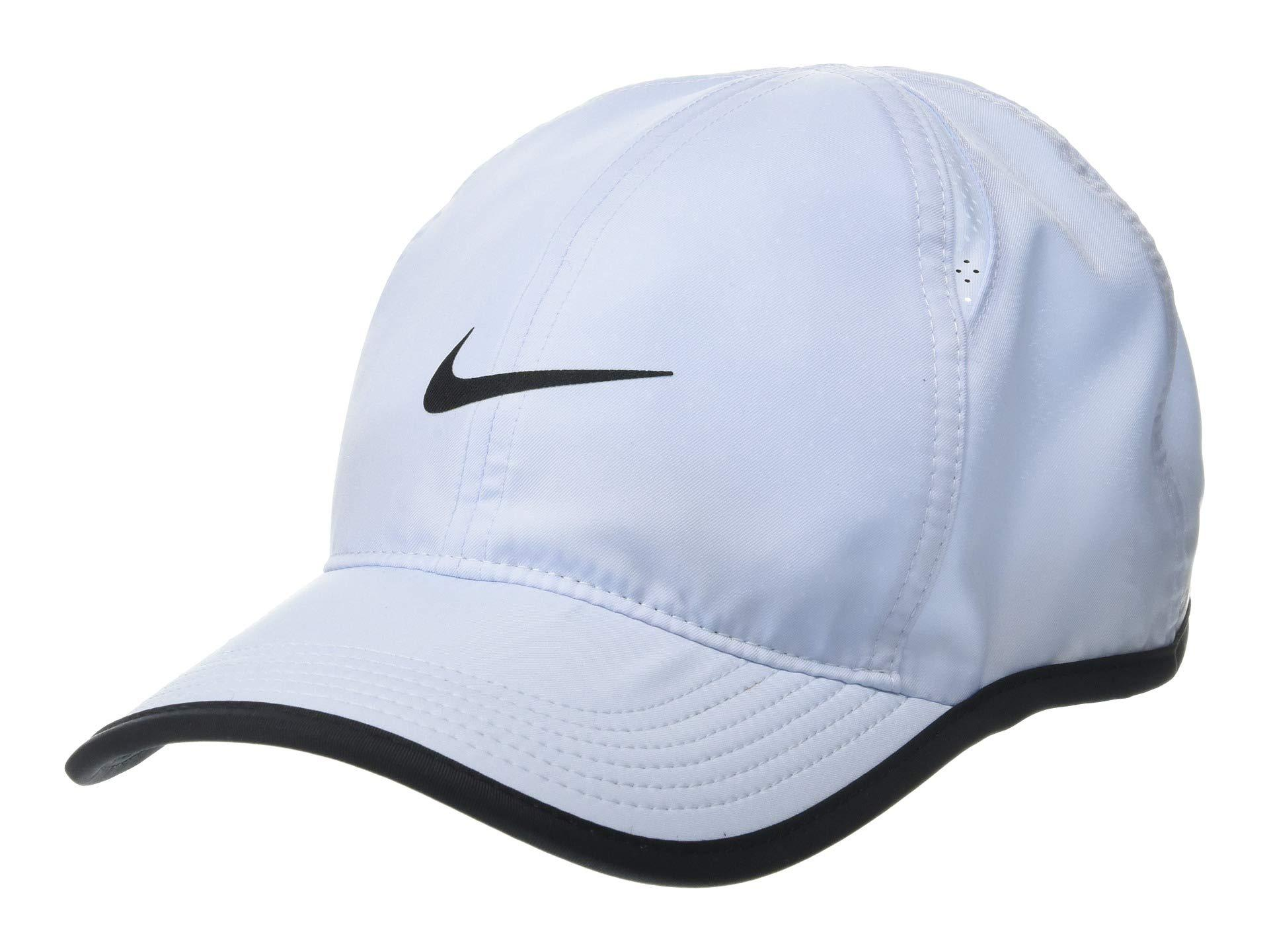on sale 6b2ff 01c10 Nike Featherlight Cap (obsidian black black white) Caps in Black for ...