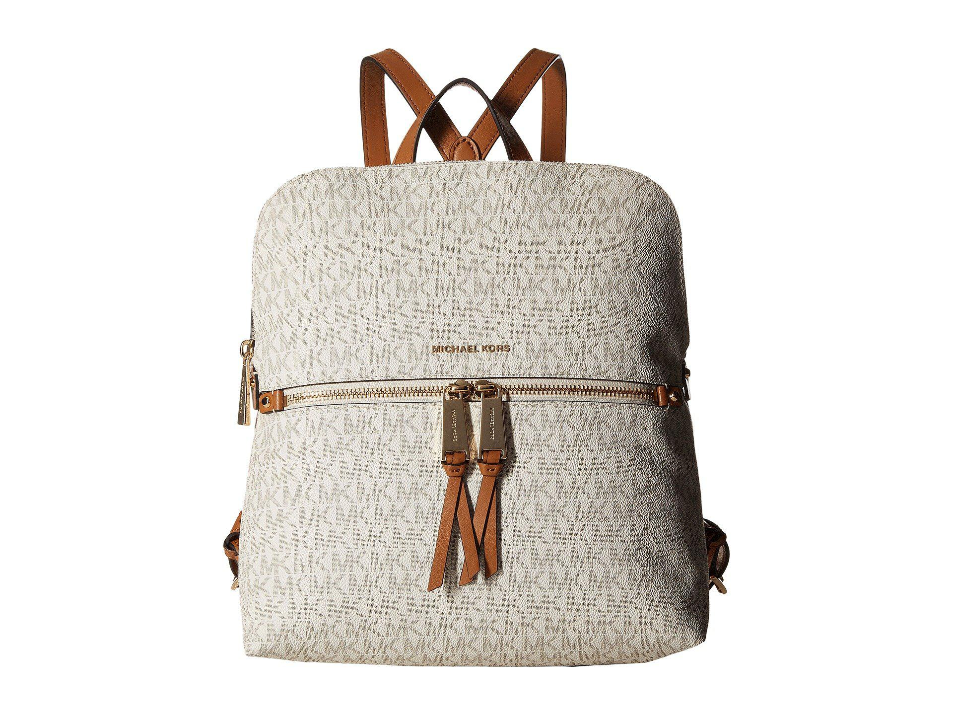 0e73b54ff7 Lyst - MICHAEL Michael Kors Rhea Zip Medium Slim Backpack (vanilla ...