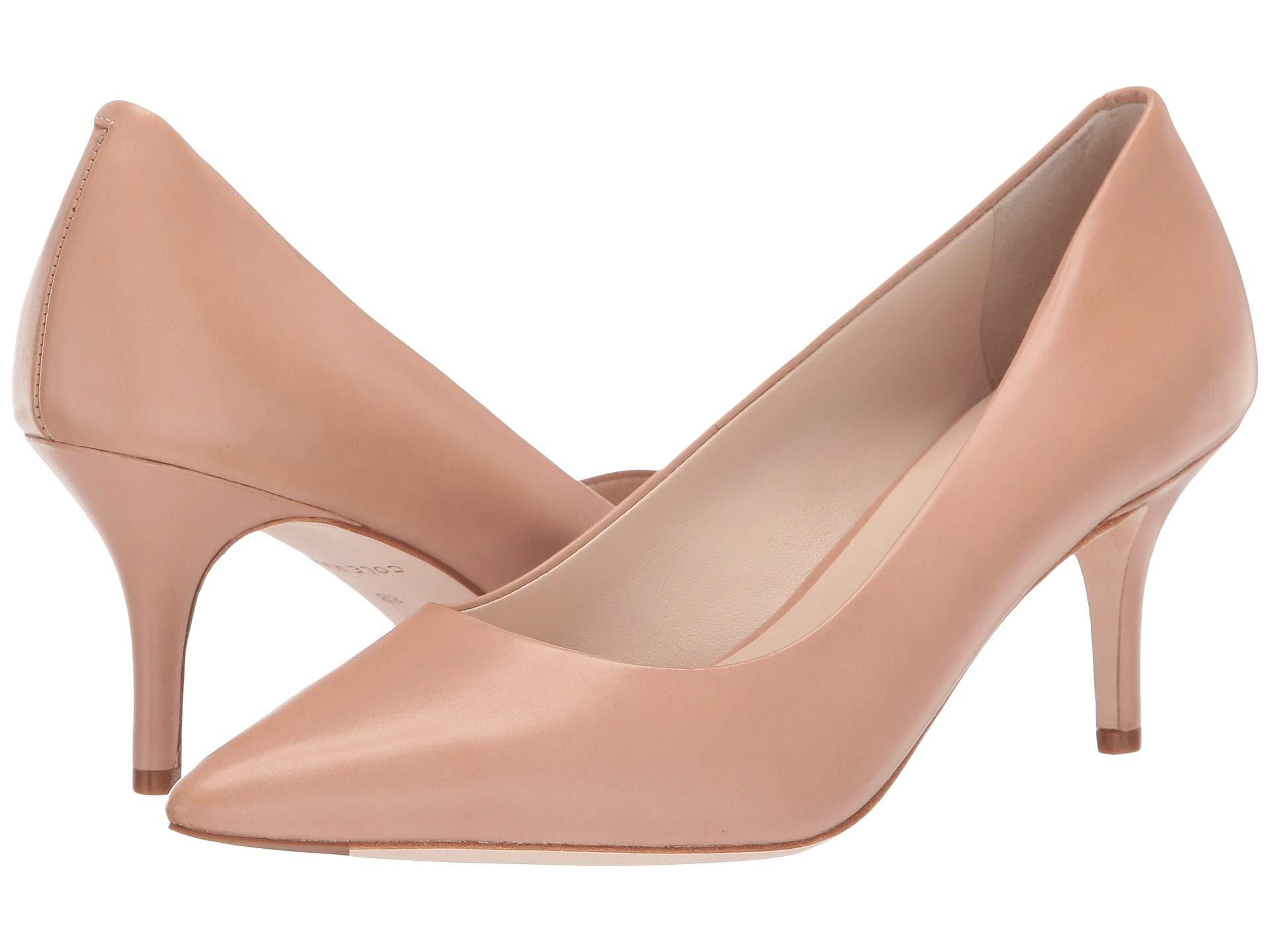 414543fac57 Lyst - Cole Haan Vesta Pump (65mm) (nude Leather) Women s Shoes in ...
