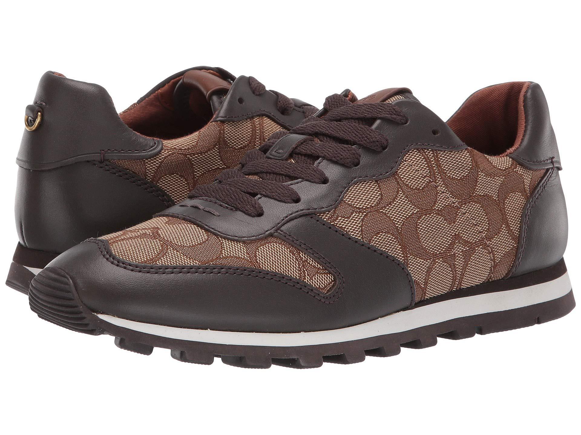 SmokeblackWomen's Lyst Cblack C125 Coach Signature Shoes Runner XZOiuPk