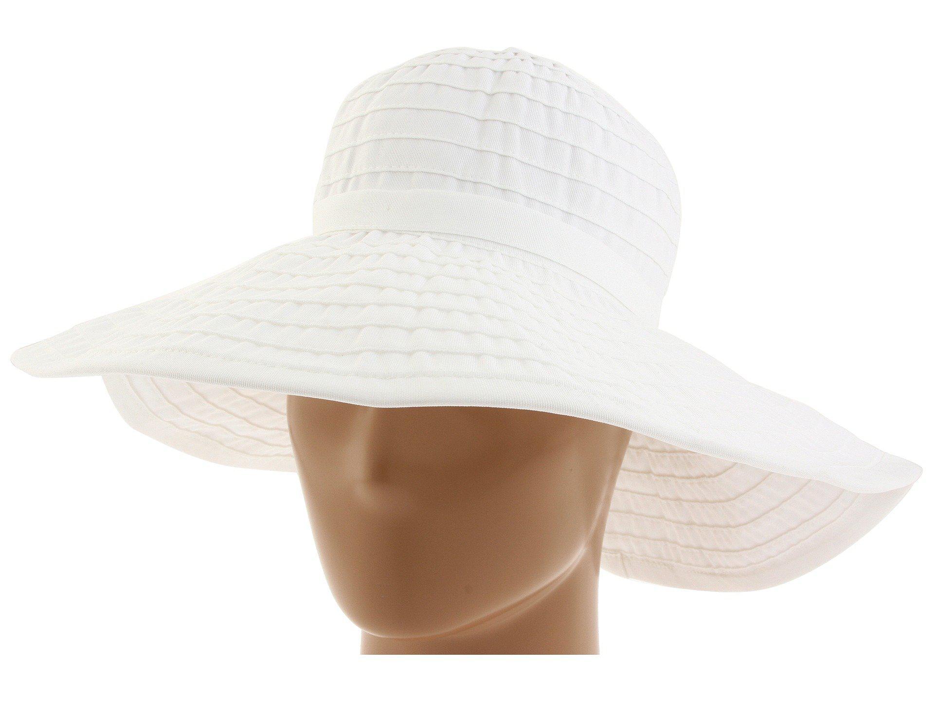 b13a0daef203f2 Lyst - San Diego Hat Company Rbl299 Crushable Ribbon Floppy Hat ...