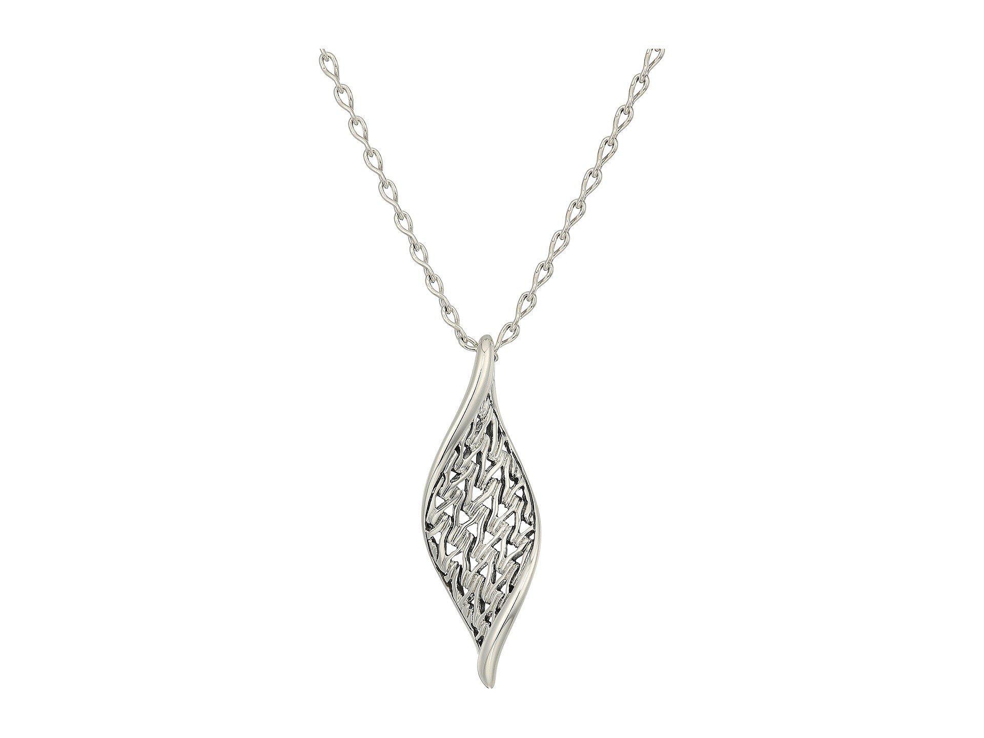 1735e3f20f0b8 Lyst - John Hardy Classic Chain Wave Pendant Necklace (silver ...