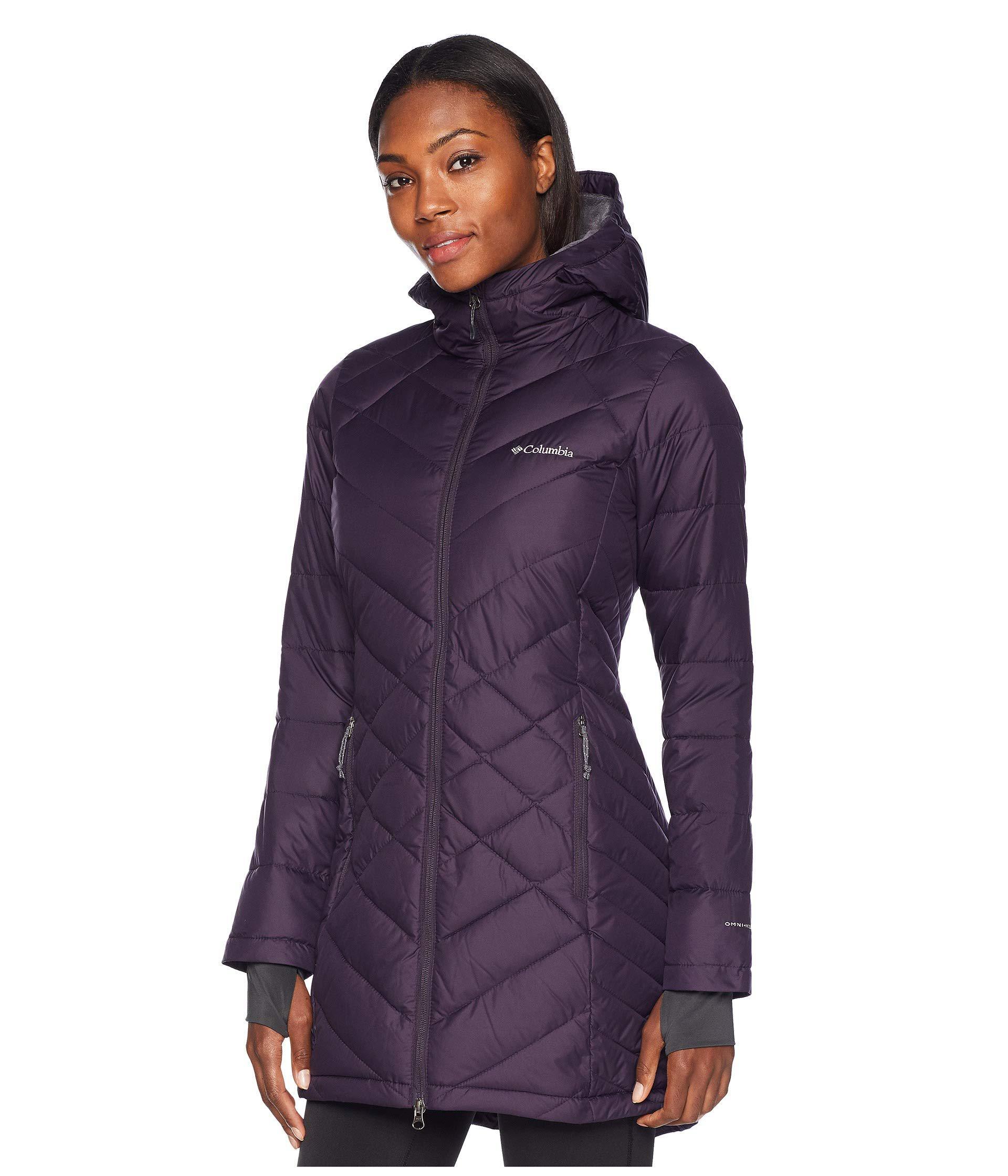 2e2ab3ea6ec Columbia Heavenly Long Hooded Jacket (nocturnal) Women's Coat in ...