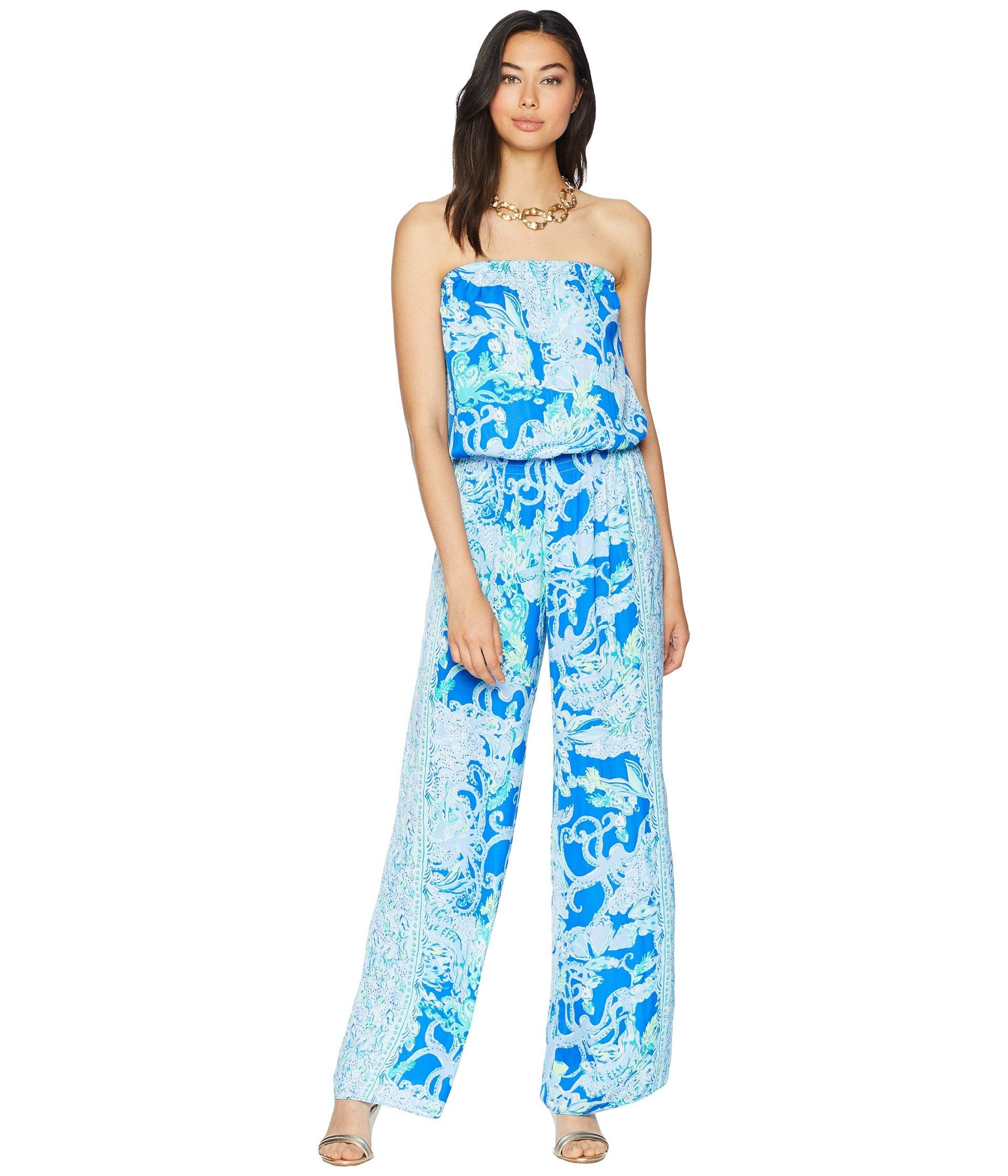 725b0676246f Lyst - Lilly Pulitzer Pim Jumpsuit (blue Grotto So Offishal) Women s ...