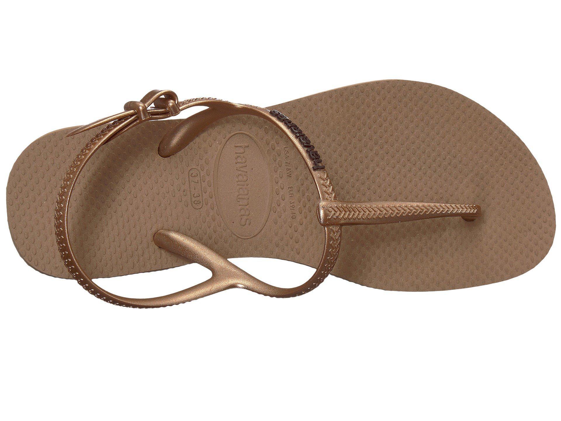 ad4ea406b34f Lyst - Havaianas Freedom Sl Flip-flops (rose Gold) Women s Sandals