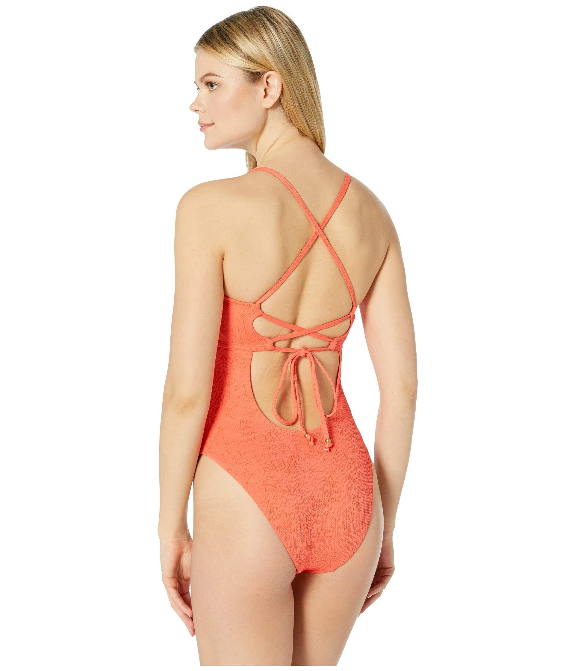 ea42e4b1dce Lucky Brand - Orange Doheny Beach One-piece Swimsuit (hot Coral) Women s  Swimsuits. View fullscreen