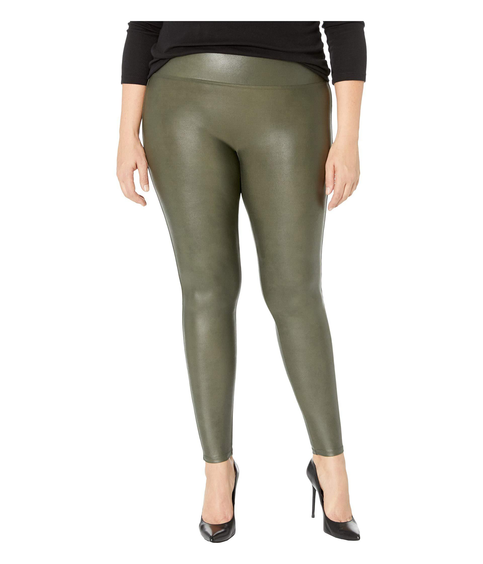 5a85c1ec7e2 Spanx. Green Plus Size Faux Leather Leggings (black) Women s Clothing