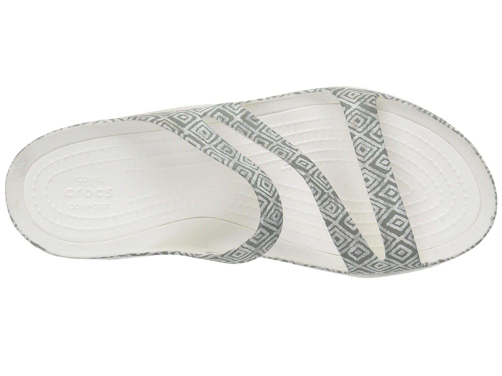 b3c6bd9fc3f459 Crocs™ - Gray Swiftwater Graphic Sandal (dots) Women s Sandals - Lyst. View  fullscreen