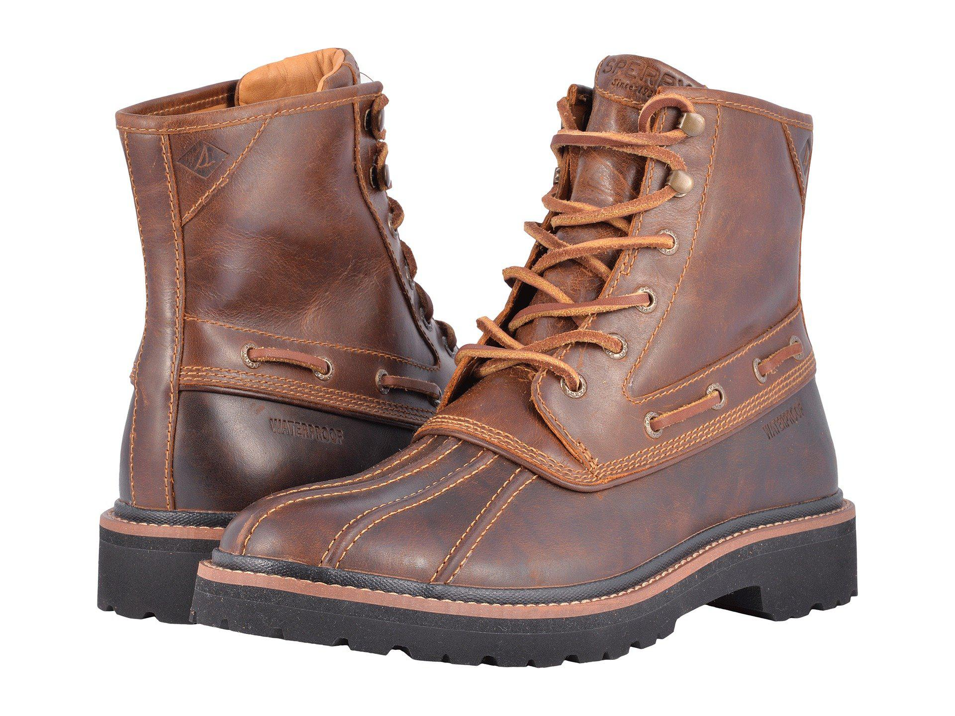 Gold Cup Lug Duck Boot in Brown