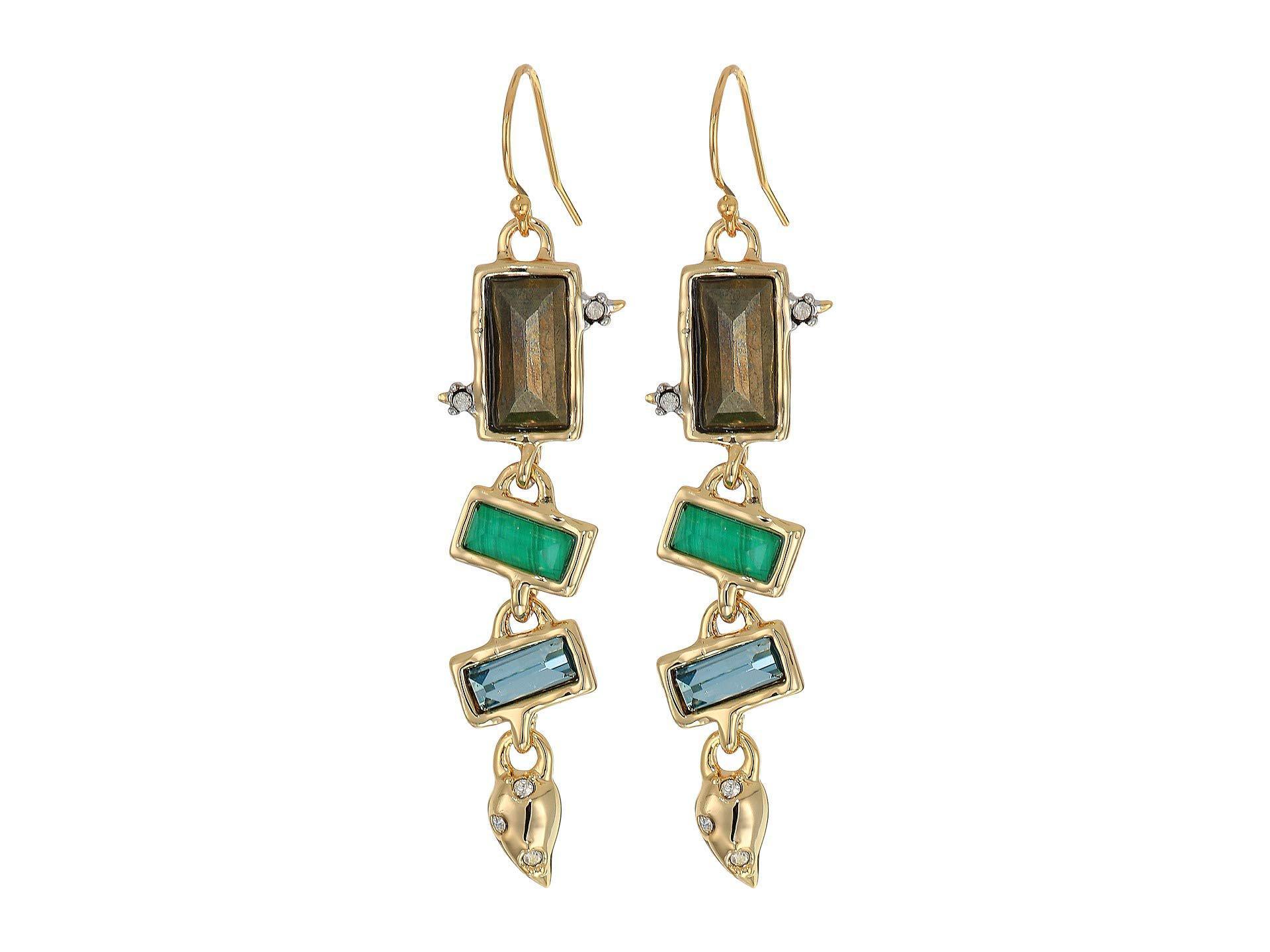5a8a60a37 Lyst - Alexis Bittar Molten Multi-stone Wire Earrings (10k Gold ...