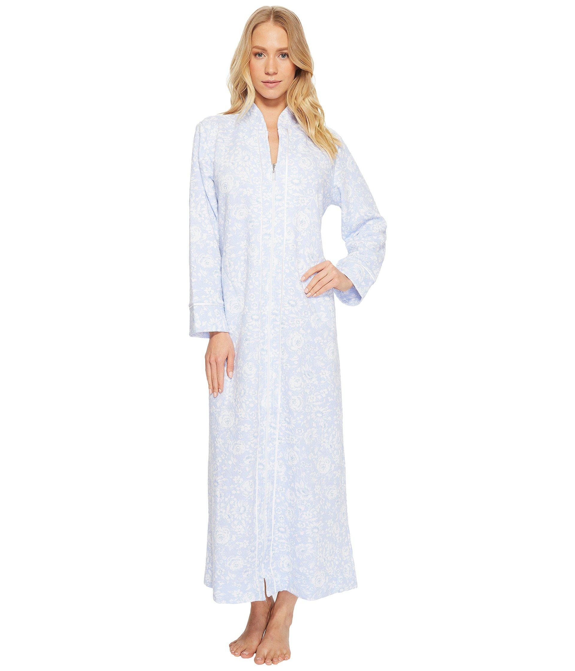 Lyst - Carole Hochman Quilted Zip Robe in Blue