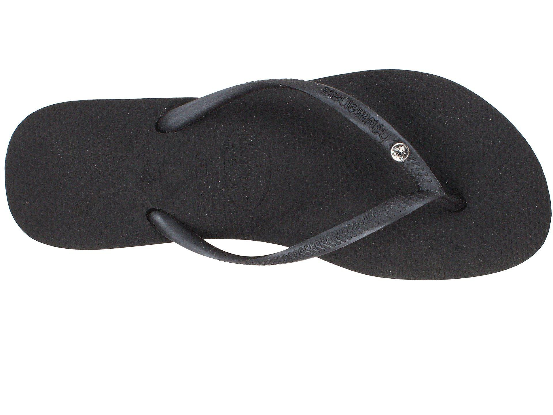 130914732 Havaianas - Black Slim Crystal Glamour Sw Flip Flops (new Graphite silver  Metallic). View fullscreen
