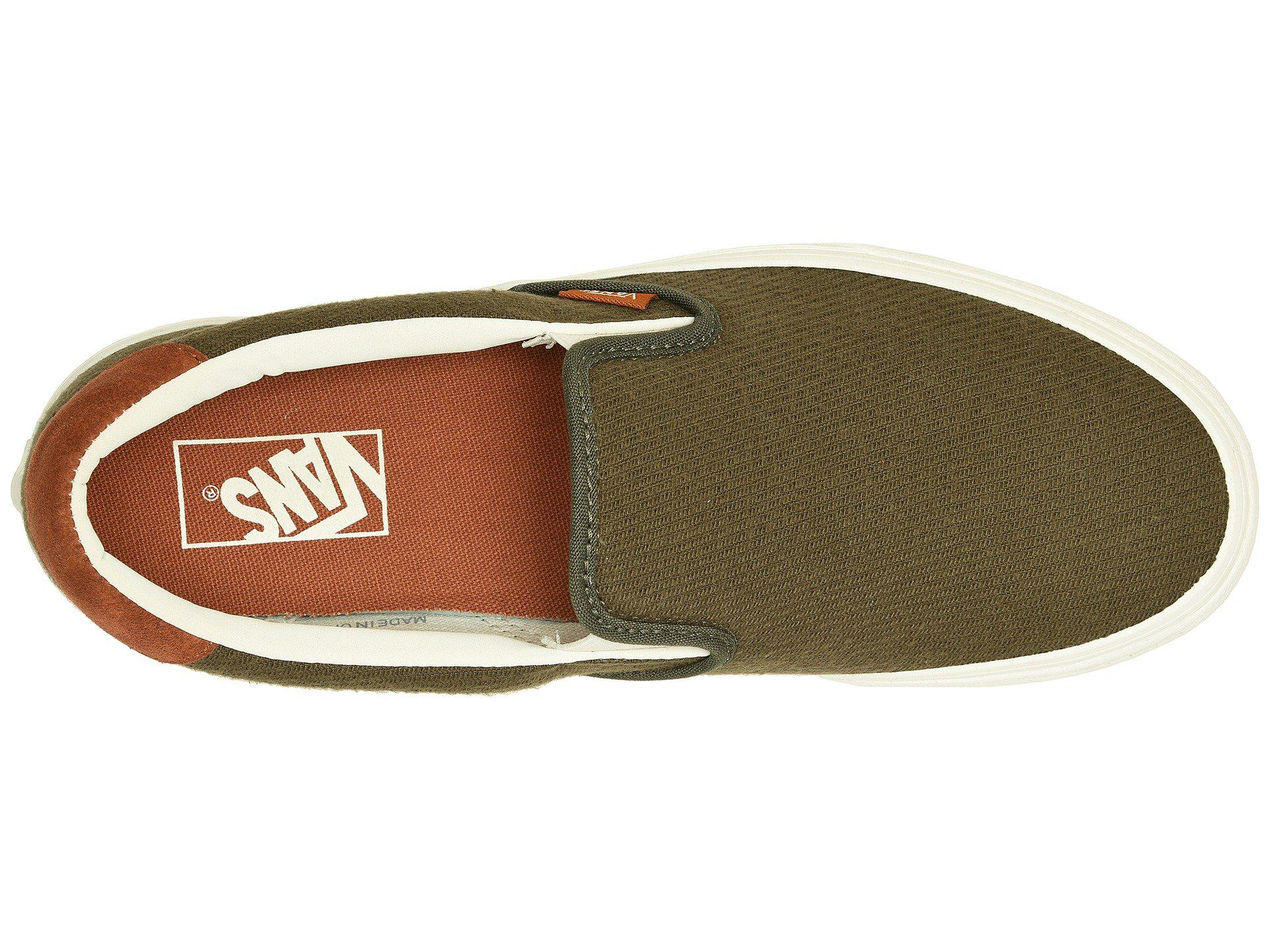 33f2d7f910f8dc Lyst - Vans Slip-on 59 ((flannel) Dusty Olive) Skate Shoes in Green ...