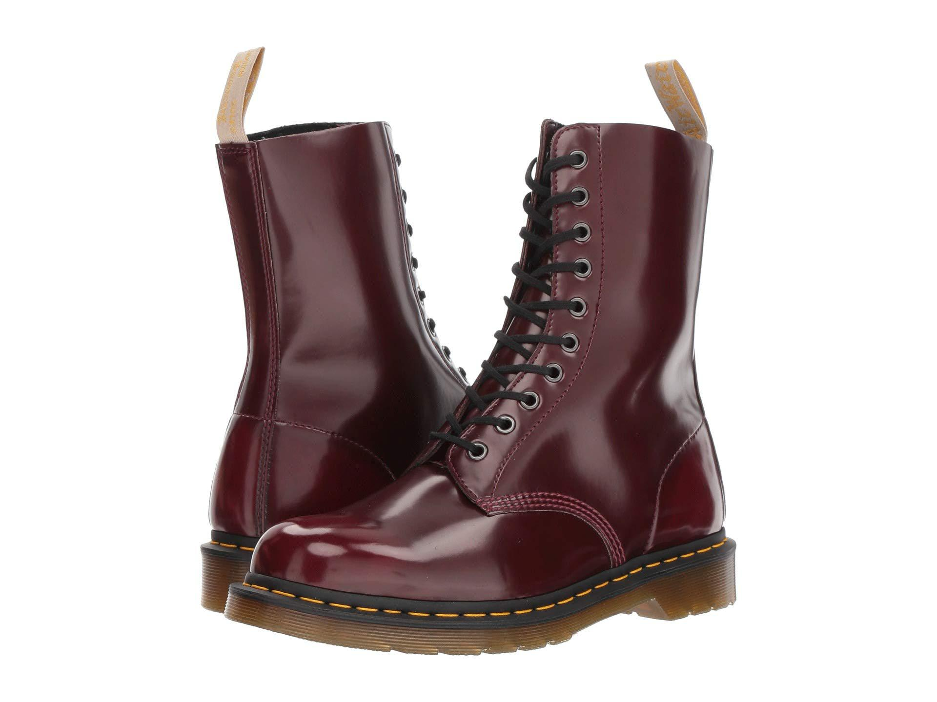 Lyst - Dr. Martens 1490 Vegan (cherry Red Cambridge Brush) Boots in ... 6e903dccdba91