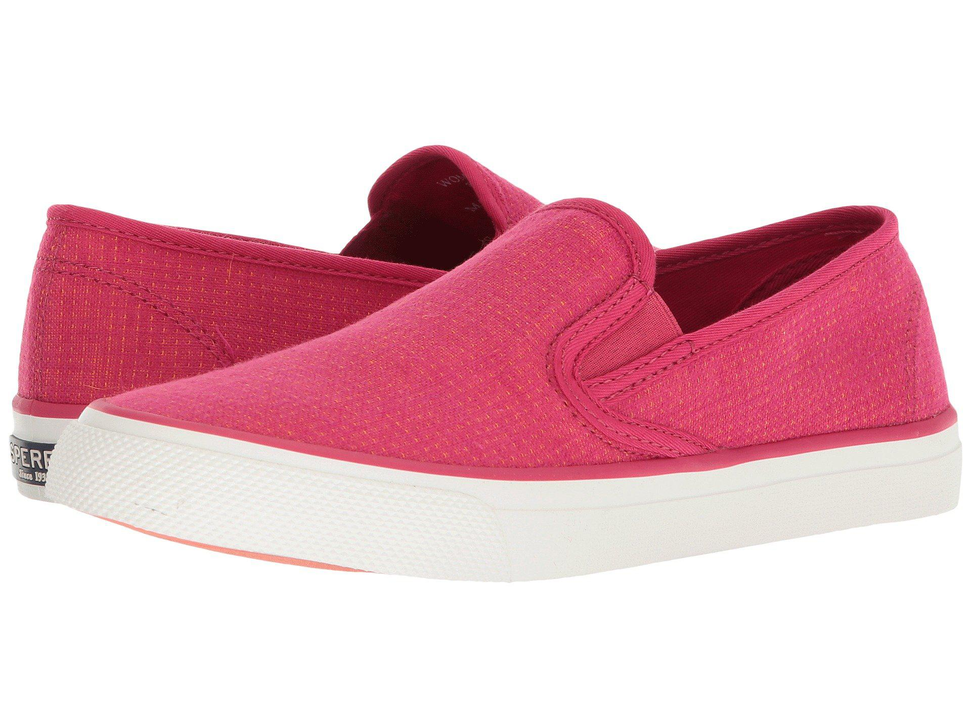 Seaside Two-Tone Linen Slip-On Sneakers vhPGrl
