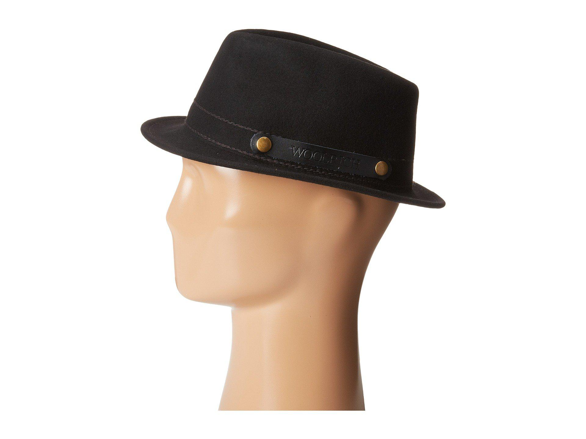 9cb9921c Woolrich Crushable Wool Felt Roll Up Hat (black) Caps in Black for ...