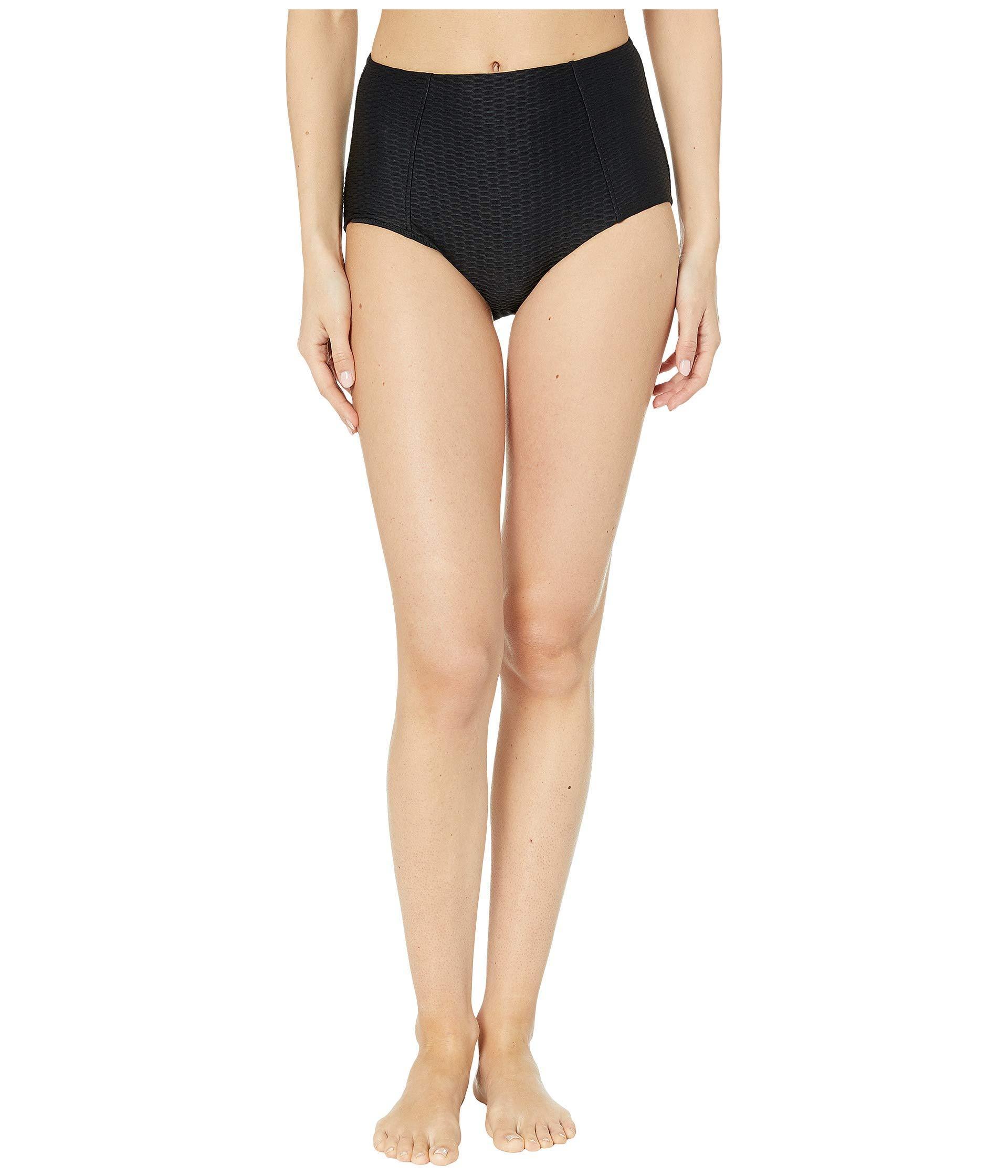 271b85eb5b6d1 Seafolly La Luna High Waisted Bikini Pants (black) Women's Swimwear ...